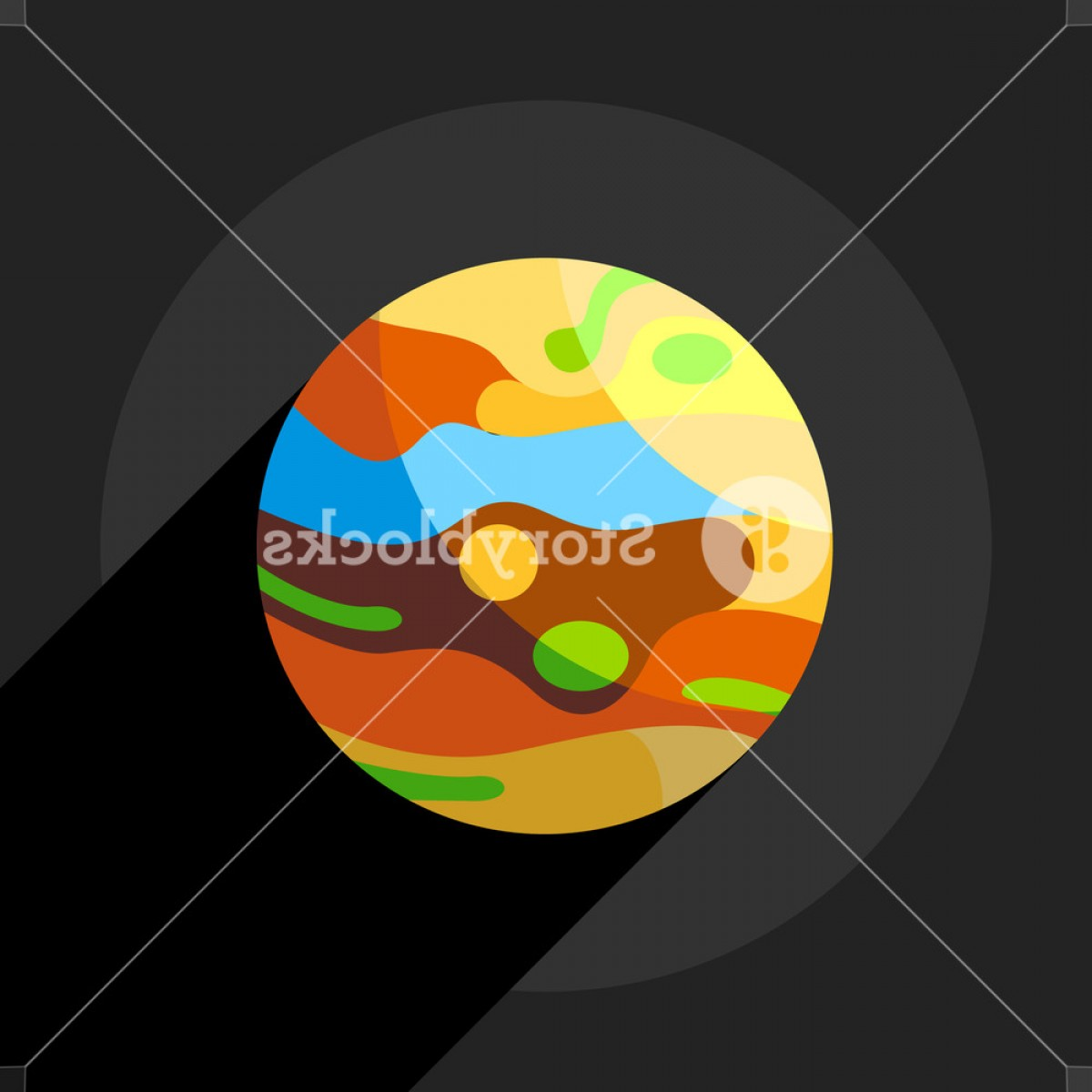 Planets Vector Graphics: Multicolored Planet Icon Flat Illustration Of Multicolored Planet Vector Icon For Web Rvzmgjbejhzwm