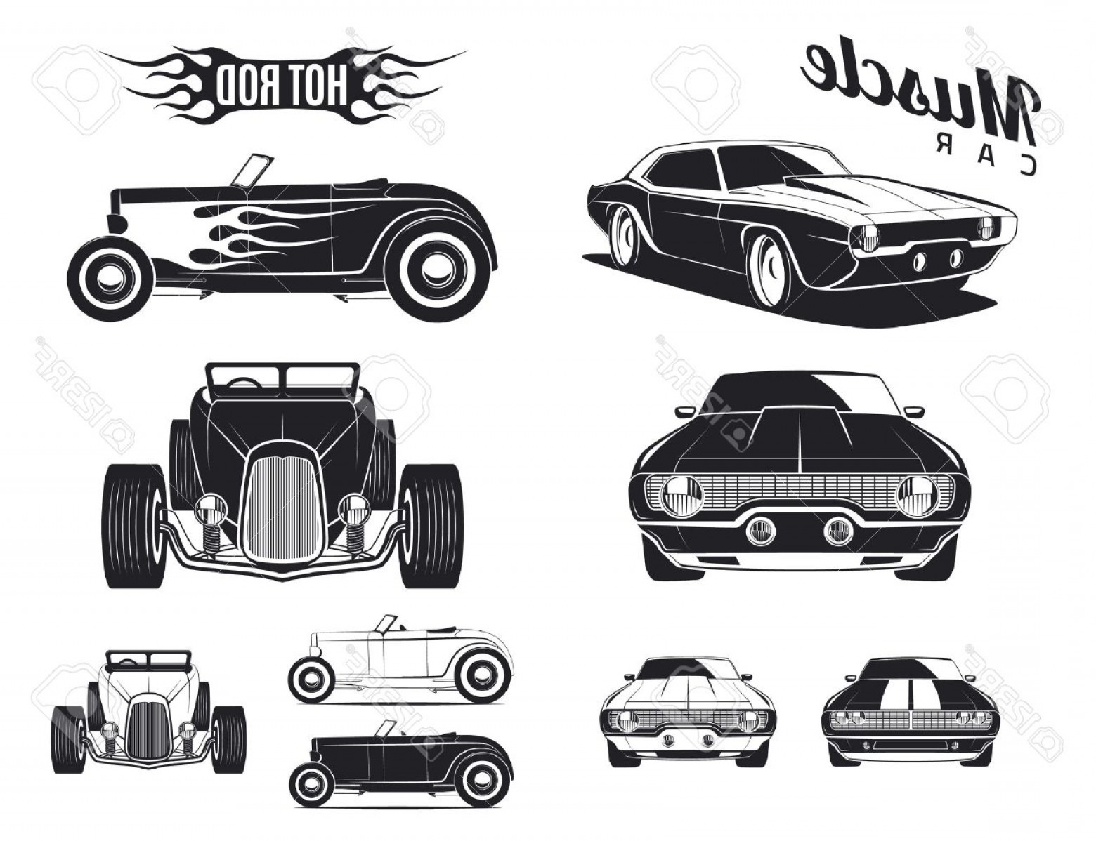 Muscle Car Silhouette Vector High Res Createmepink