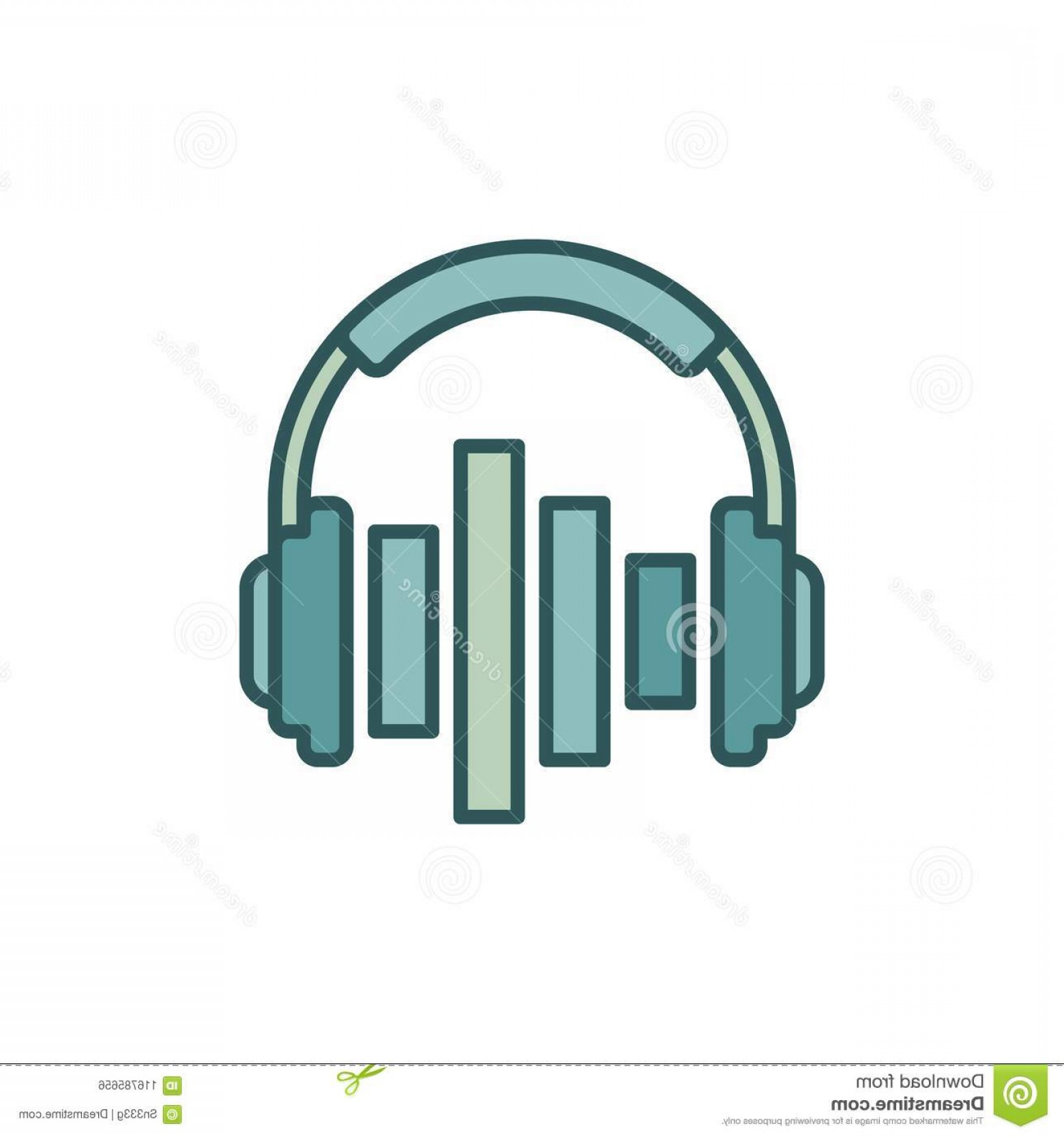 Equalizer Vector Icons: Music Headphones Equalizer Vector Icon Design Element Music Headphones Equalizer Vector Concept Icon Design Image