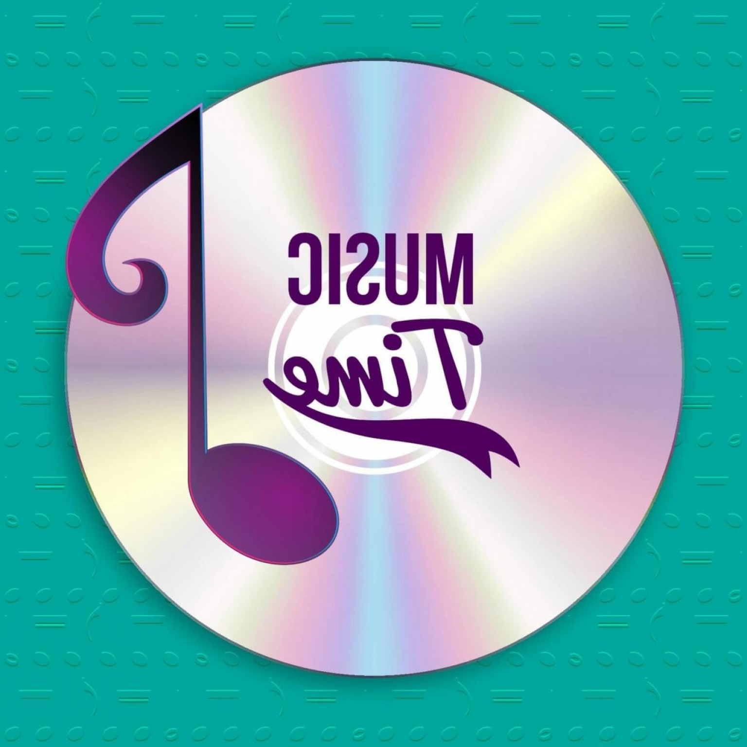 Musical Vector Artwork: Music Illustration With Cd And Musical Notes