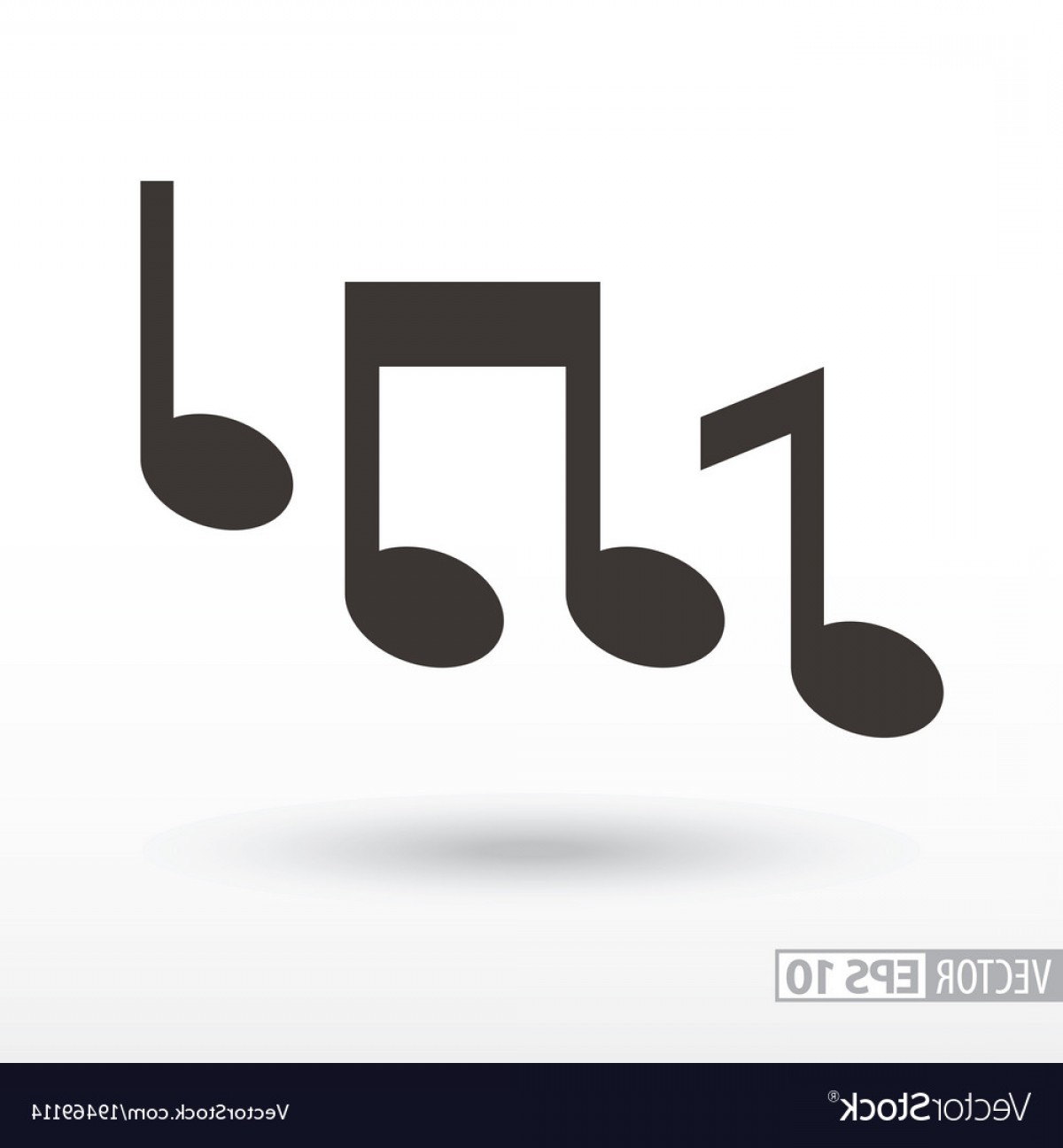 Musical Vector Artwork: Music Notes Flat Icon Sign Music Vector