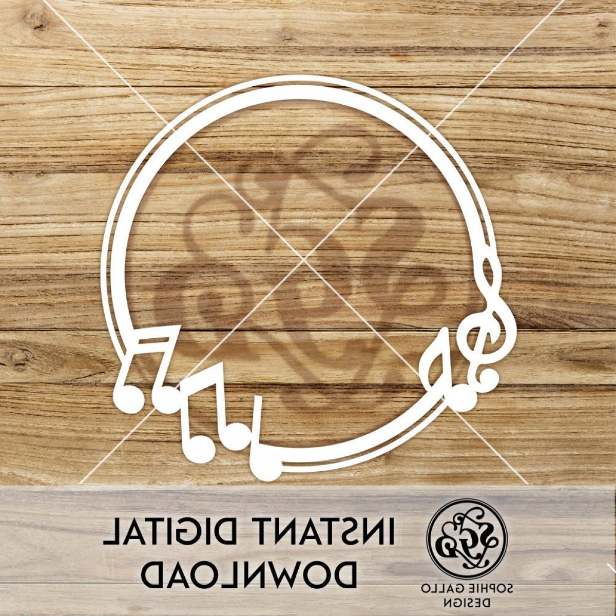 Flourish Music Note Silhouette Vector: Music Notes Frame Svg Dxf Png Digital