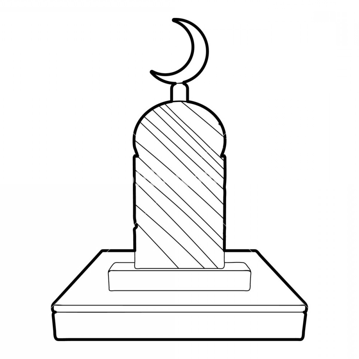 Gravestone Outline Vector: Muslim Grave Icon Outline Illustration Of Muslim Grave Vector Icon For Web Rowymgqjhzcglv