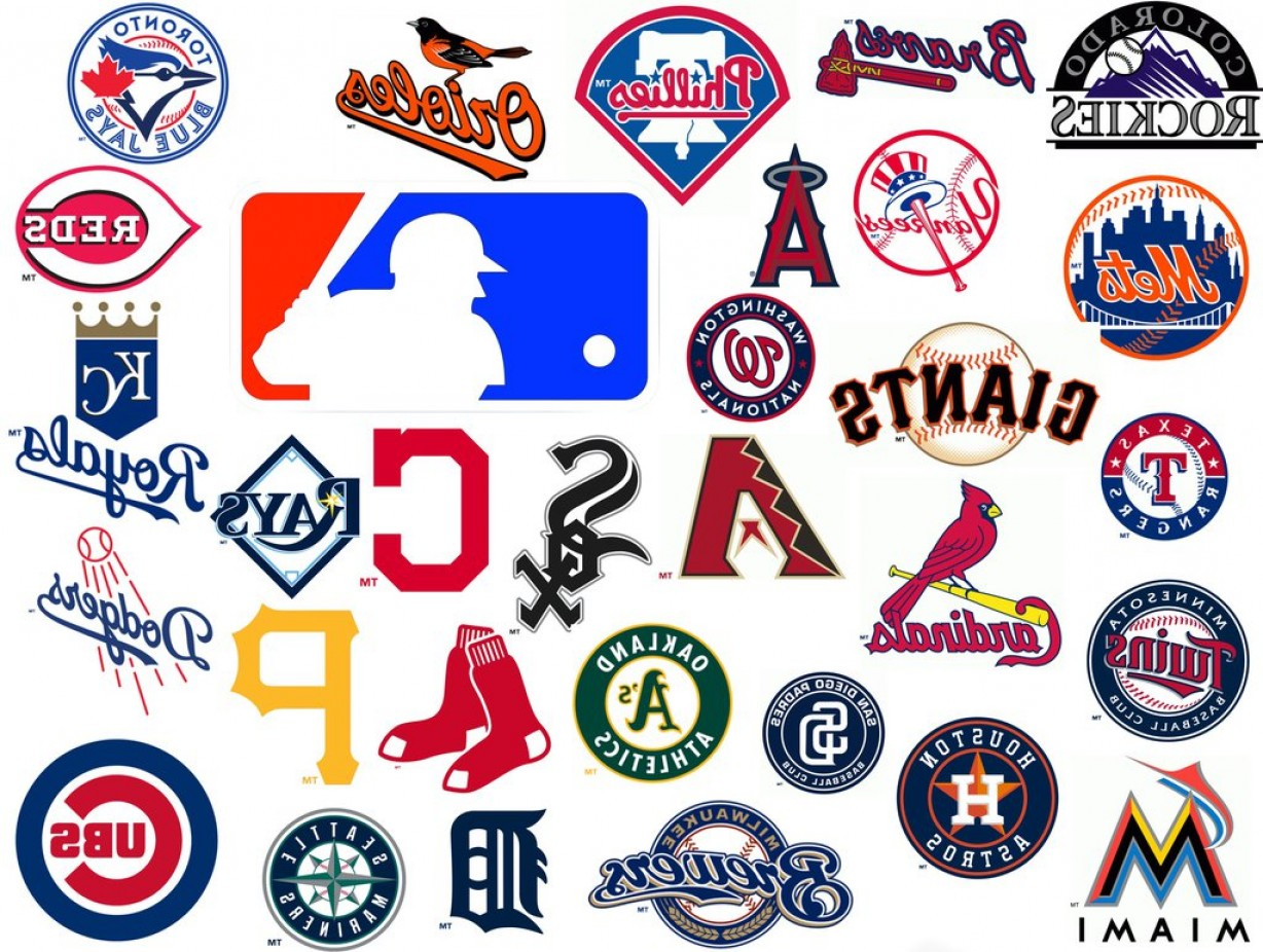 National League Baseball Logo Vector: National Baseball Team League Team Vector Logos