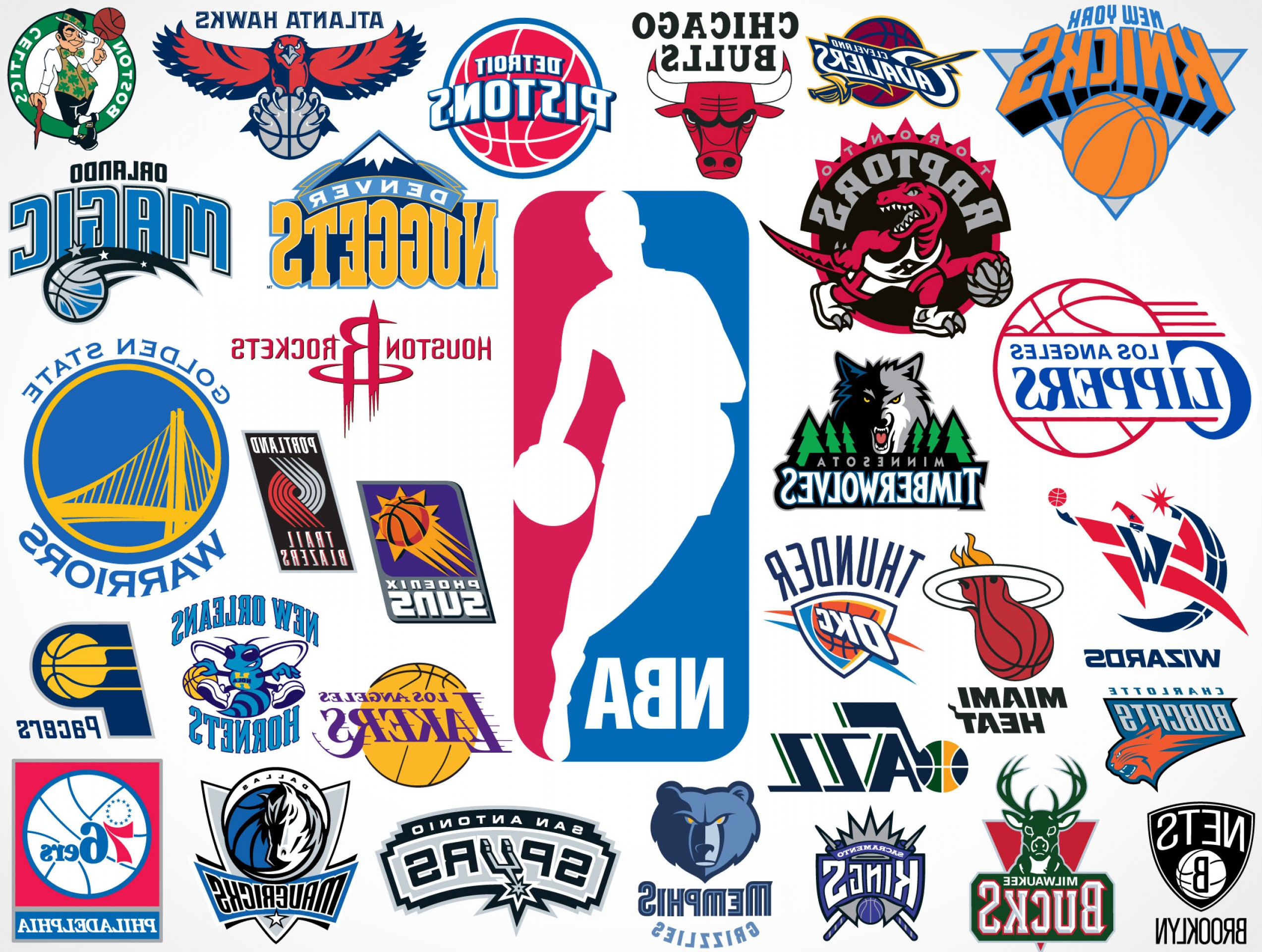 National League Baseball Logo Vector: National Basketball Association Nba Team Vector Logos Eps Svg Psd