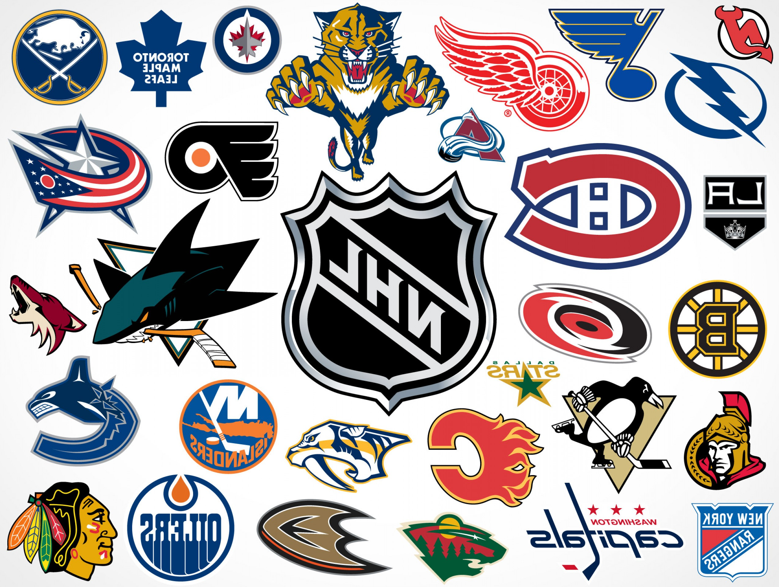 Hockey Teams Logo Vectors: National Hockey League Nhl Team Vector Logos Eps Svg Psd