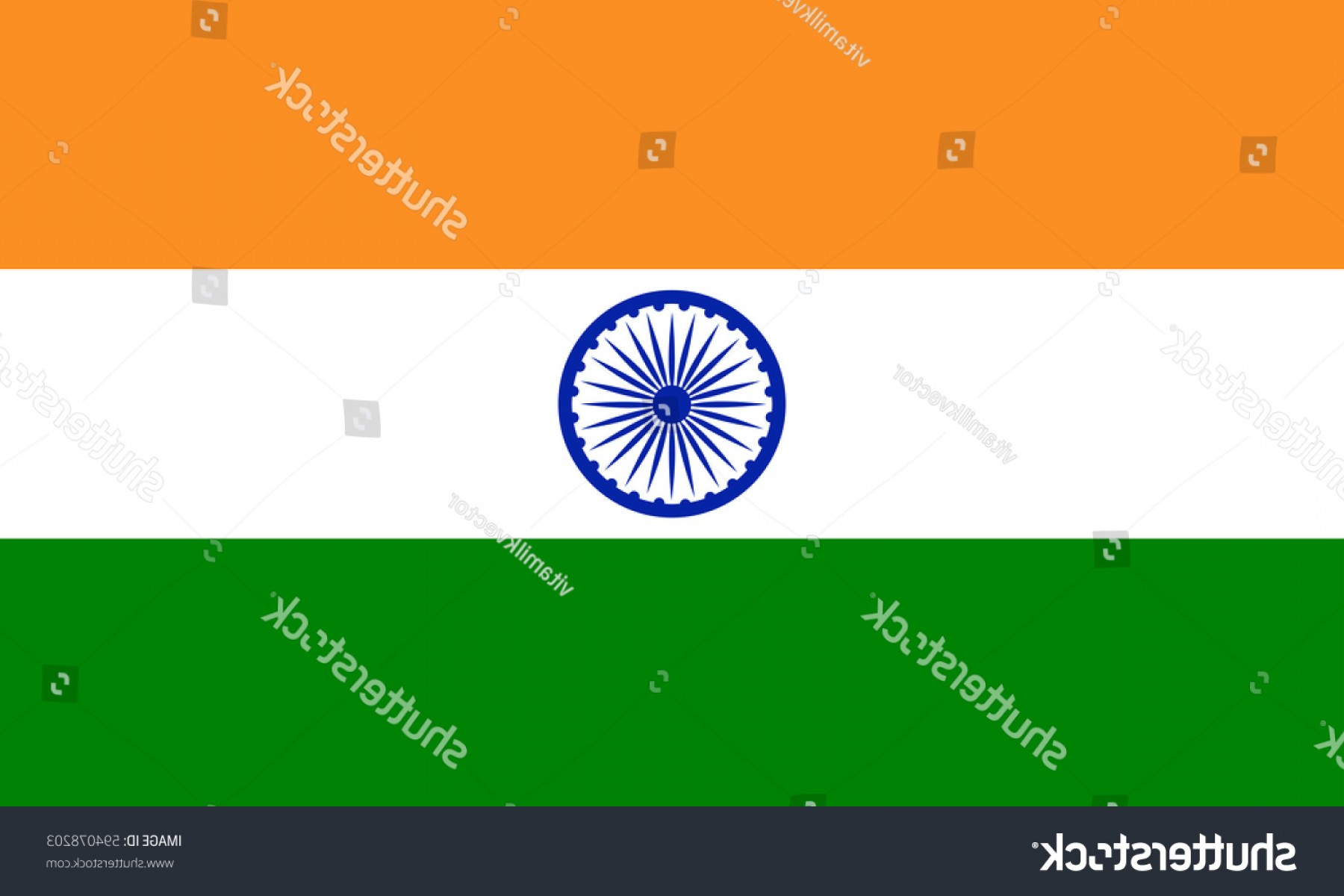 India Flag Vector: National India Flag Vector Illustration