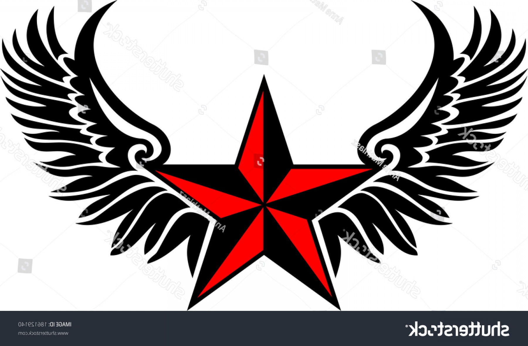 Nautical Star Vector Logo: Nautical Star Wings Protection Guidance
