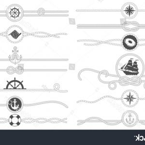 Nautical Text Divider Vector: Vector Waves Set Wavy Borders Divider