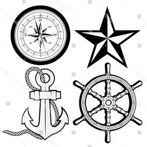 Nautical Star Vector Logo: Nautical Logo Made Vintage Style Perfect