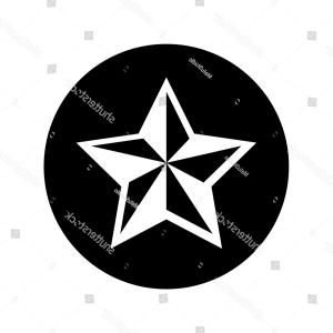 Nautical Star Vector Logo: Wind Rose Turquoise Color D Design