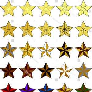 Nautical Star Vector Logo: Seven Point Star Septagram Known Heptagram