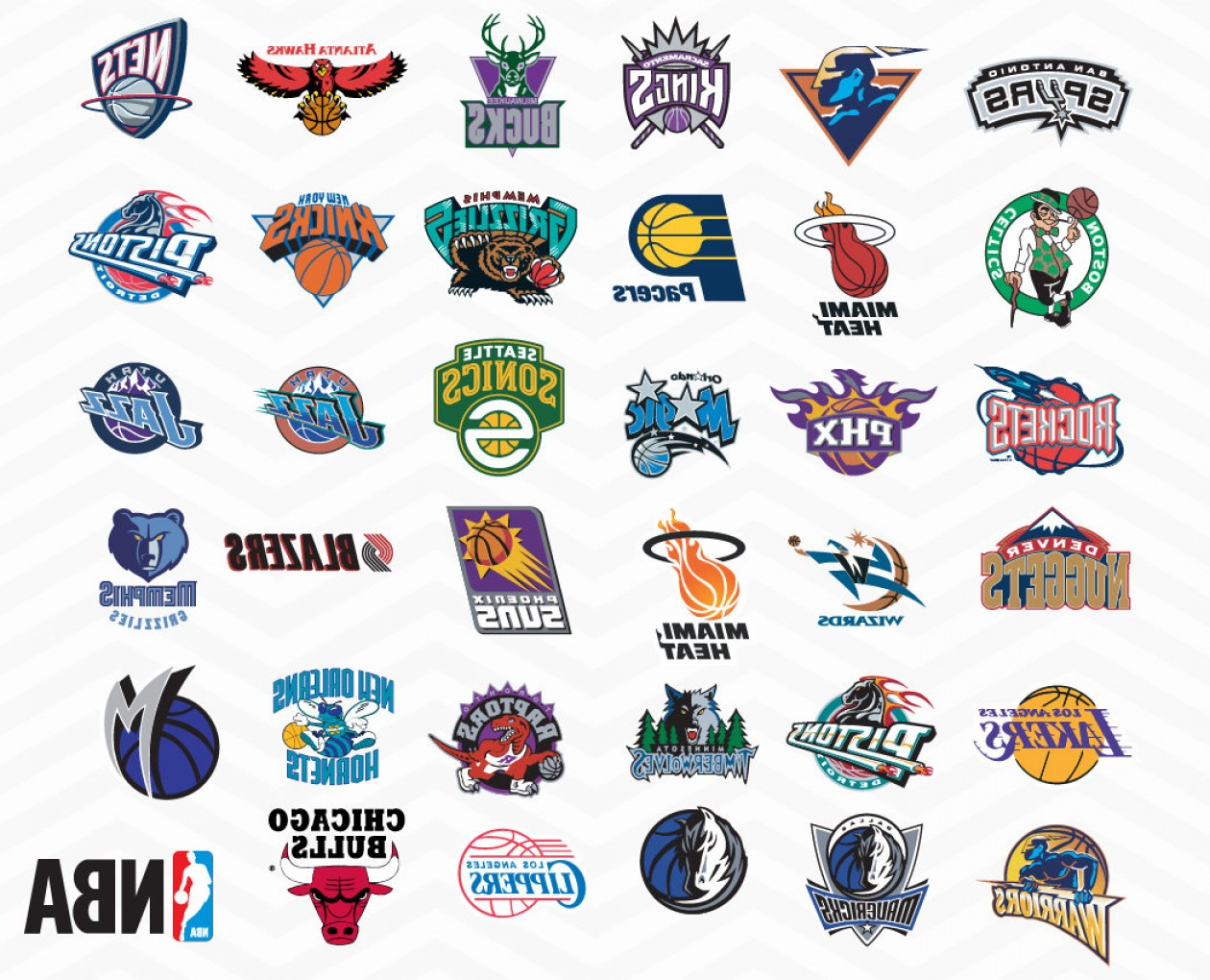 Vector NBA LogoArt: Nba Logos Svg Nba Team Svg All Nba Team