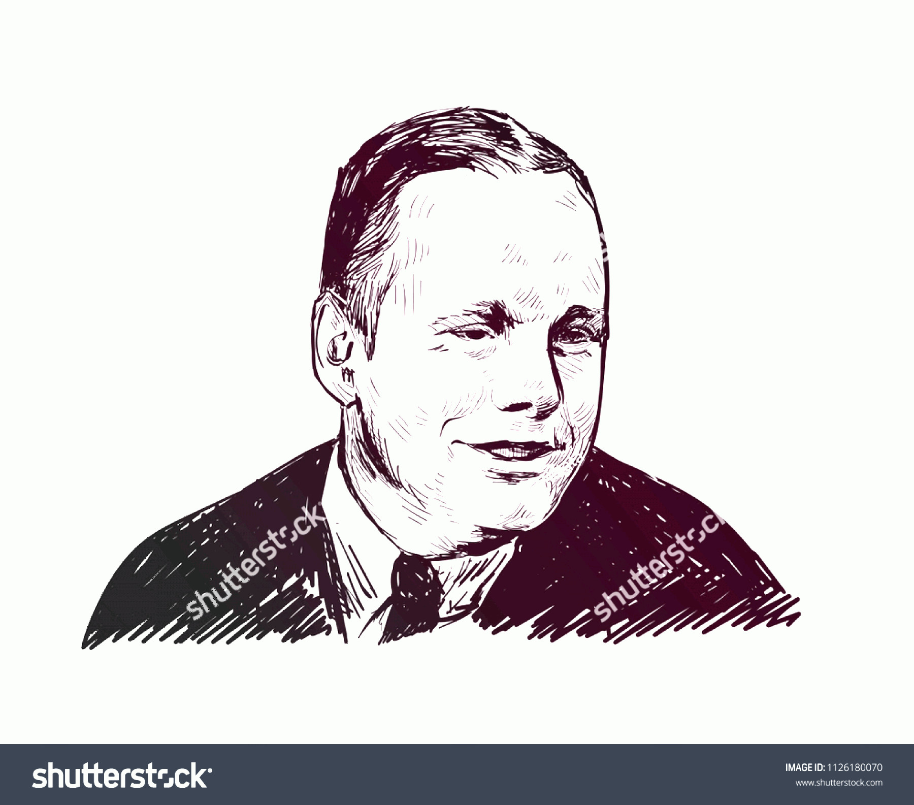 Armstrong Vector: Neil Armstrong Vector Sketch Portrait Illustration