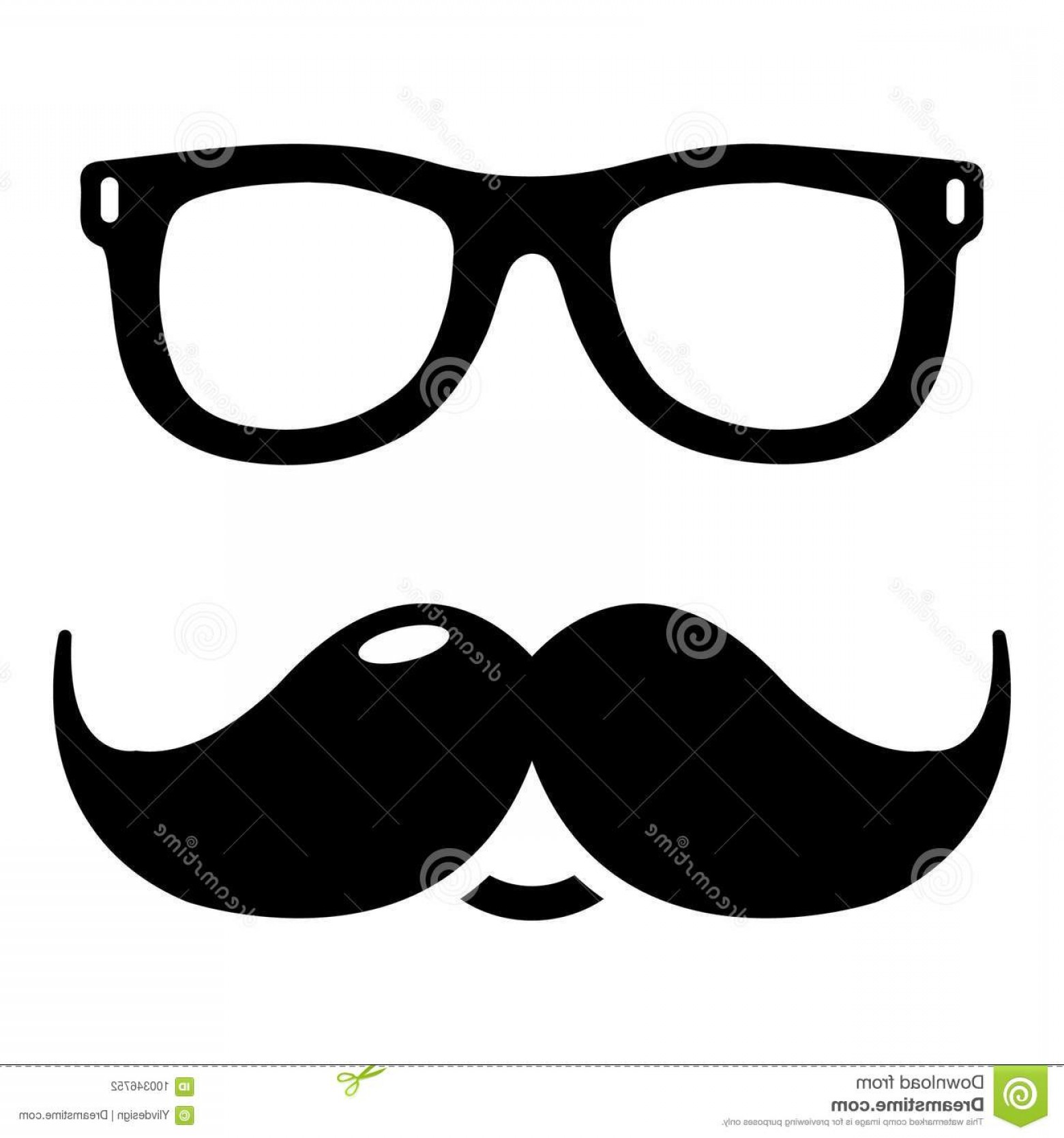 Black Sunglasses Clip Art Vector: Nerd Glasses Mustaches Icon Simple Illustration Nerd Glasses Mustaches Vector Icon Web Design Isolated White Background Image