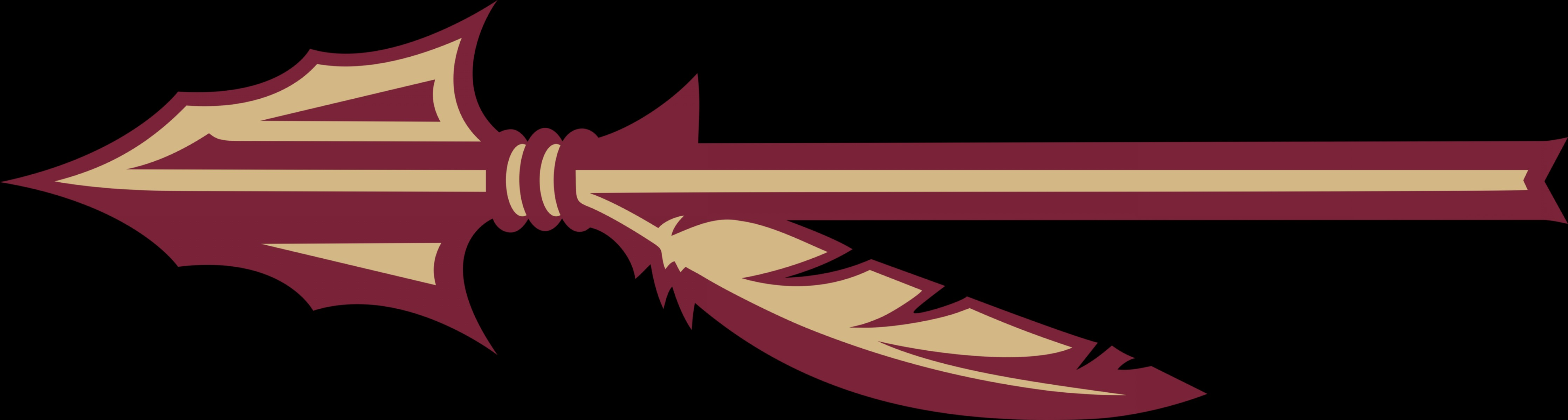 Florida State University Logo Vector: New Fsu Spear And Pattern