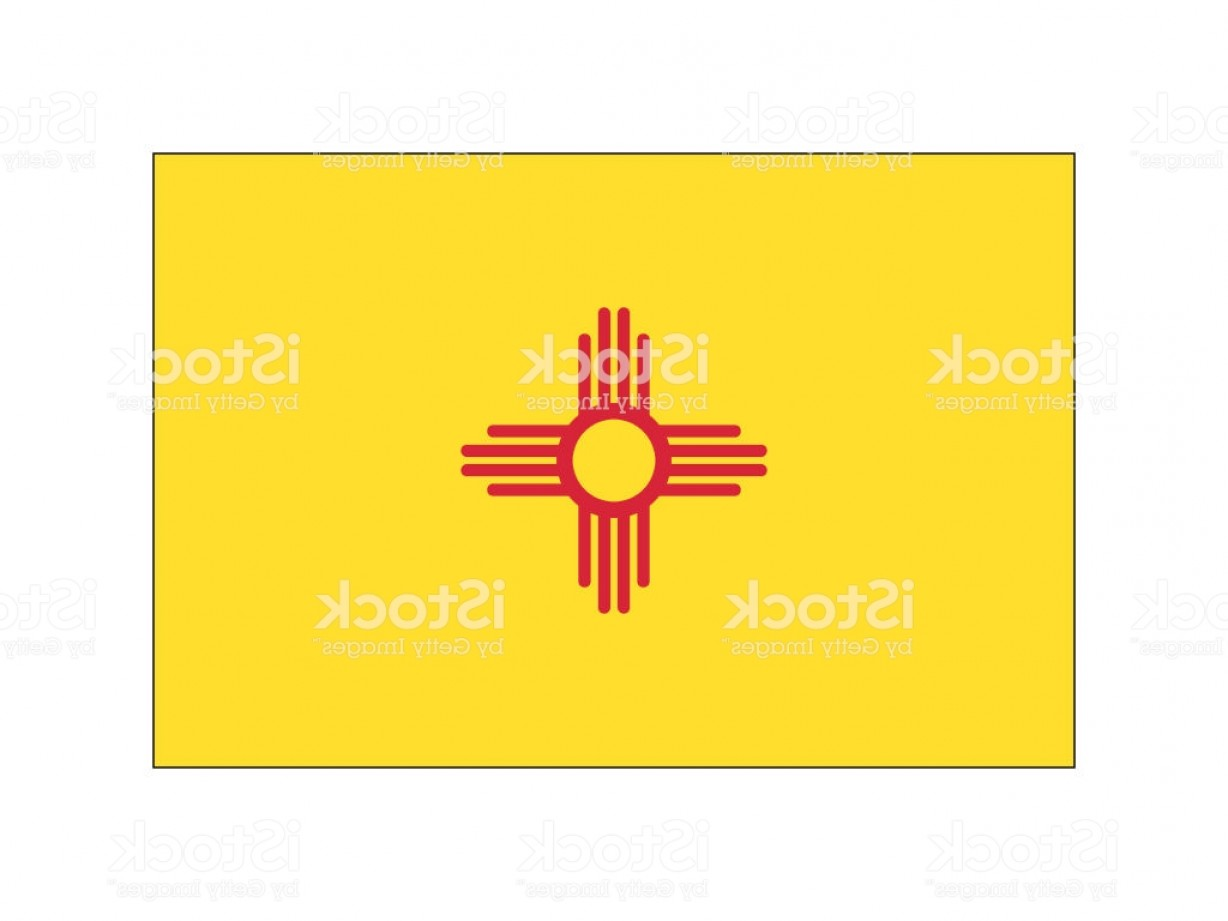 State Flag Images Vector: New Mexico State Flag Gm