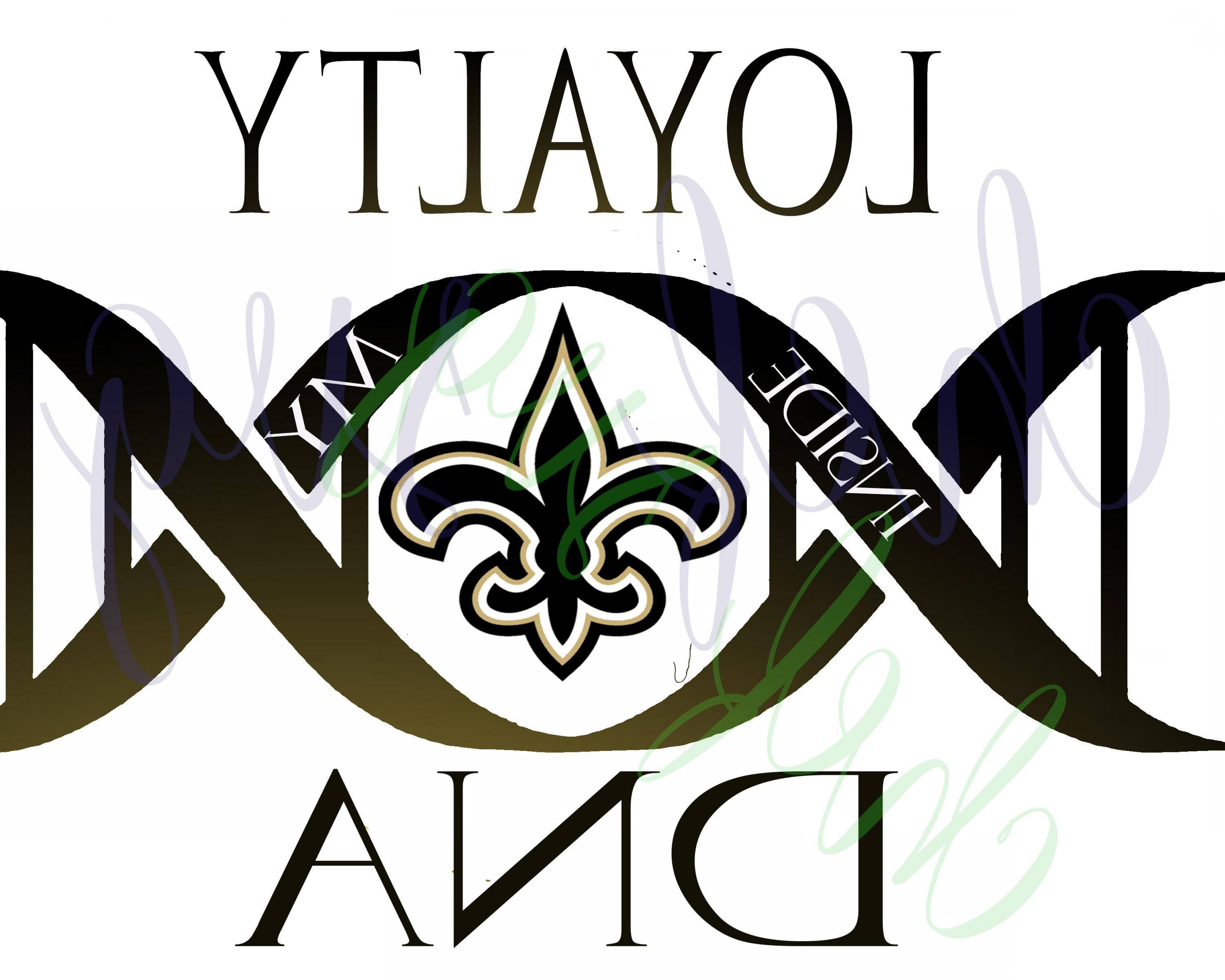 New Orleans Clip Art Vector Logo: New Orleans Saints Loyalty In My Dna Svg