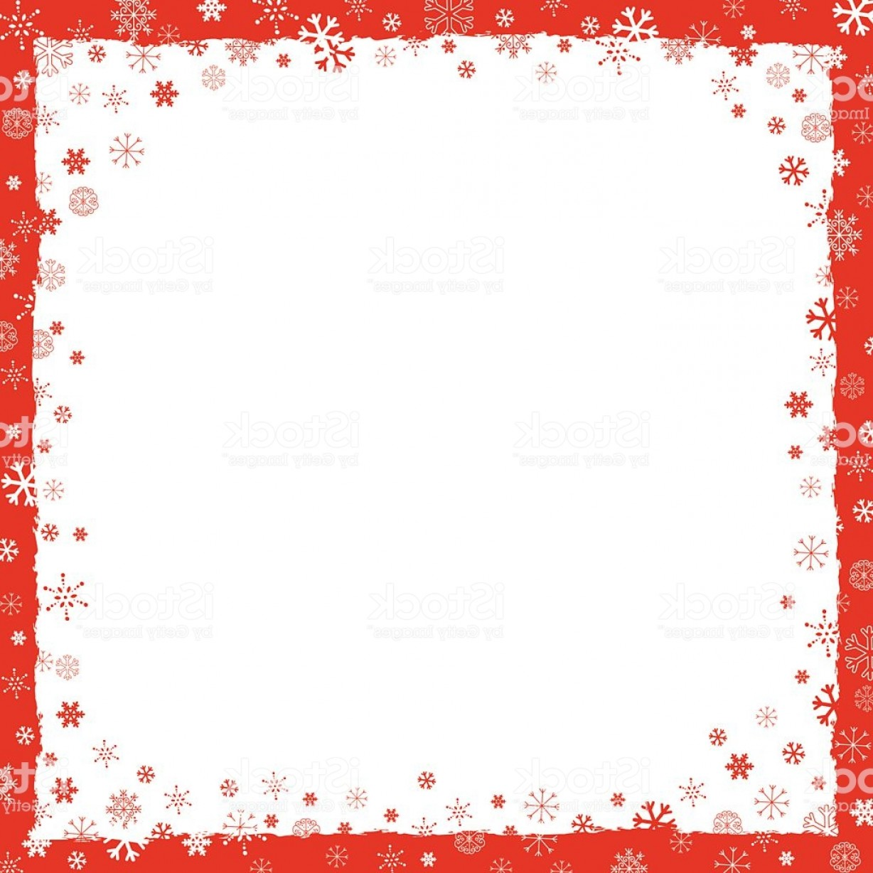 Snowflake Border Vector Art: New Year Background With Snowflakes Border Gm