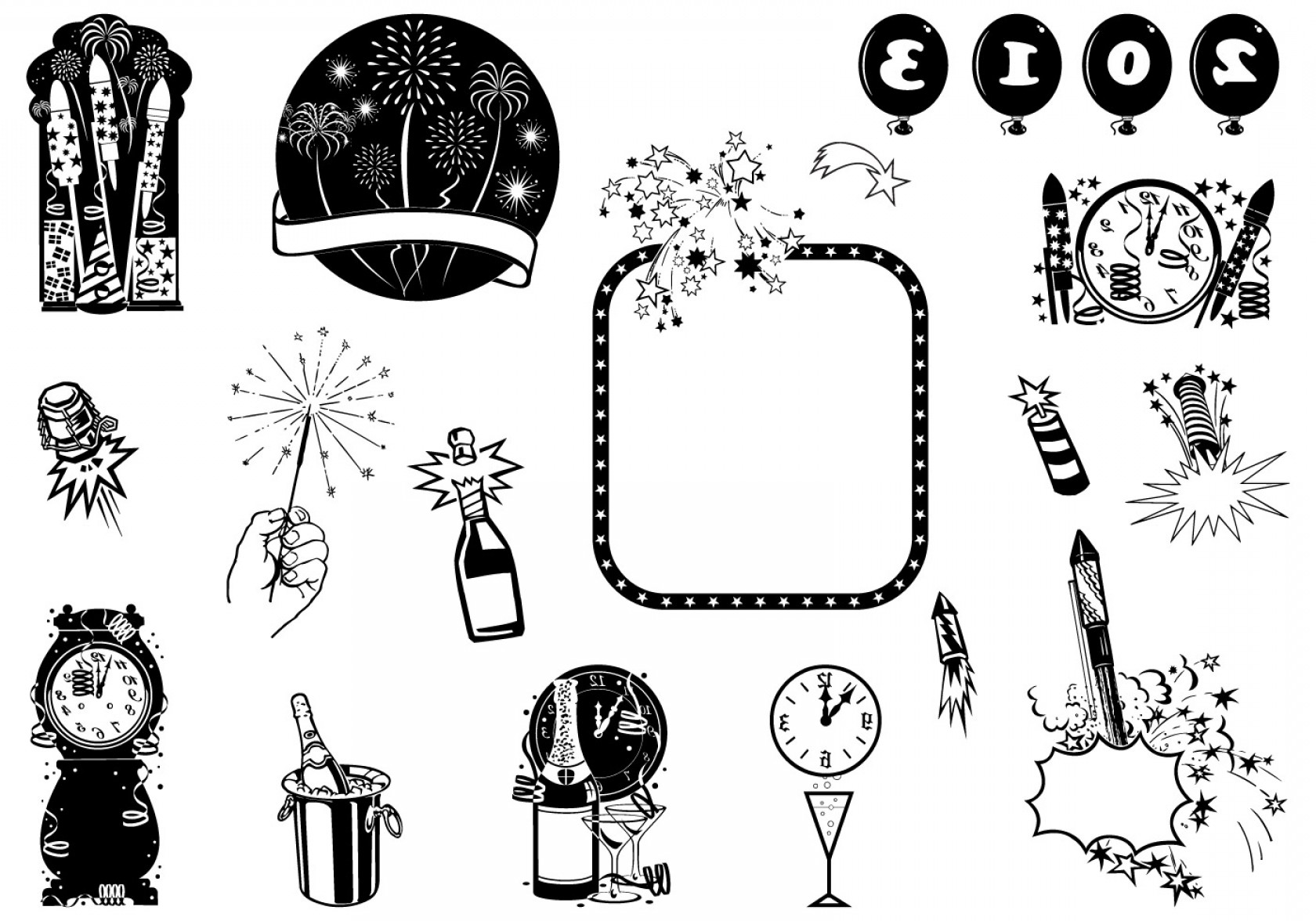 Vector New Year's Eve: New Year S Eve Vector Element Pack