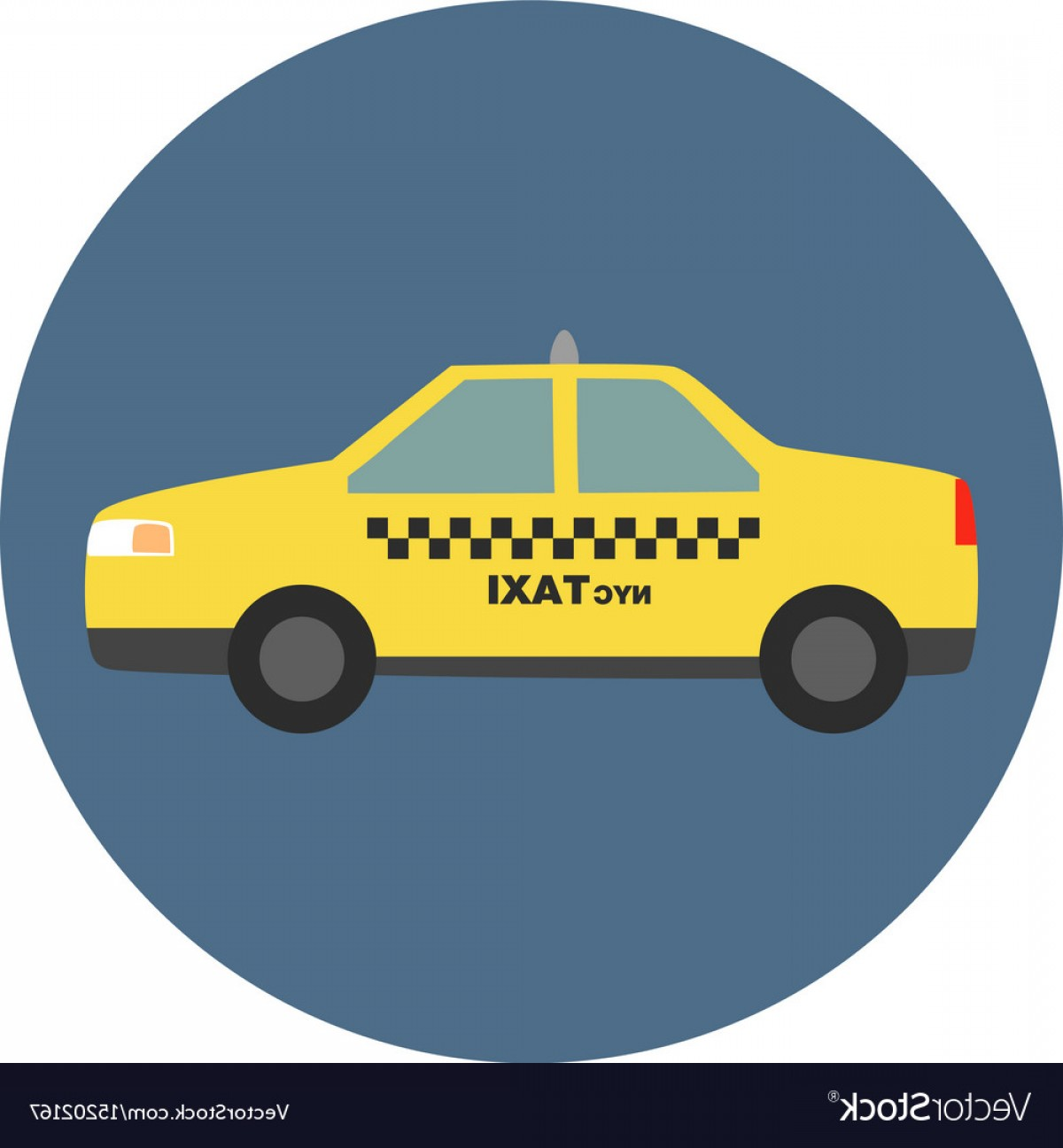 New York Taxi Cab Vector: New York City Taxi Vector
