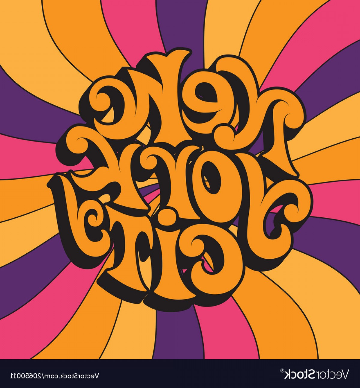 60s Vector: New York Cityclassic Psychedelic S And S Vector