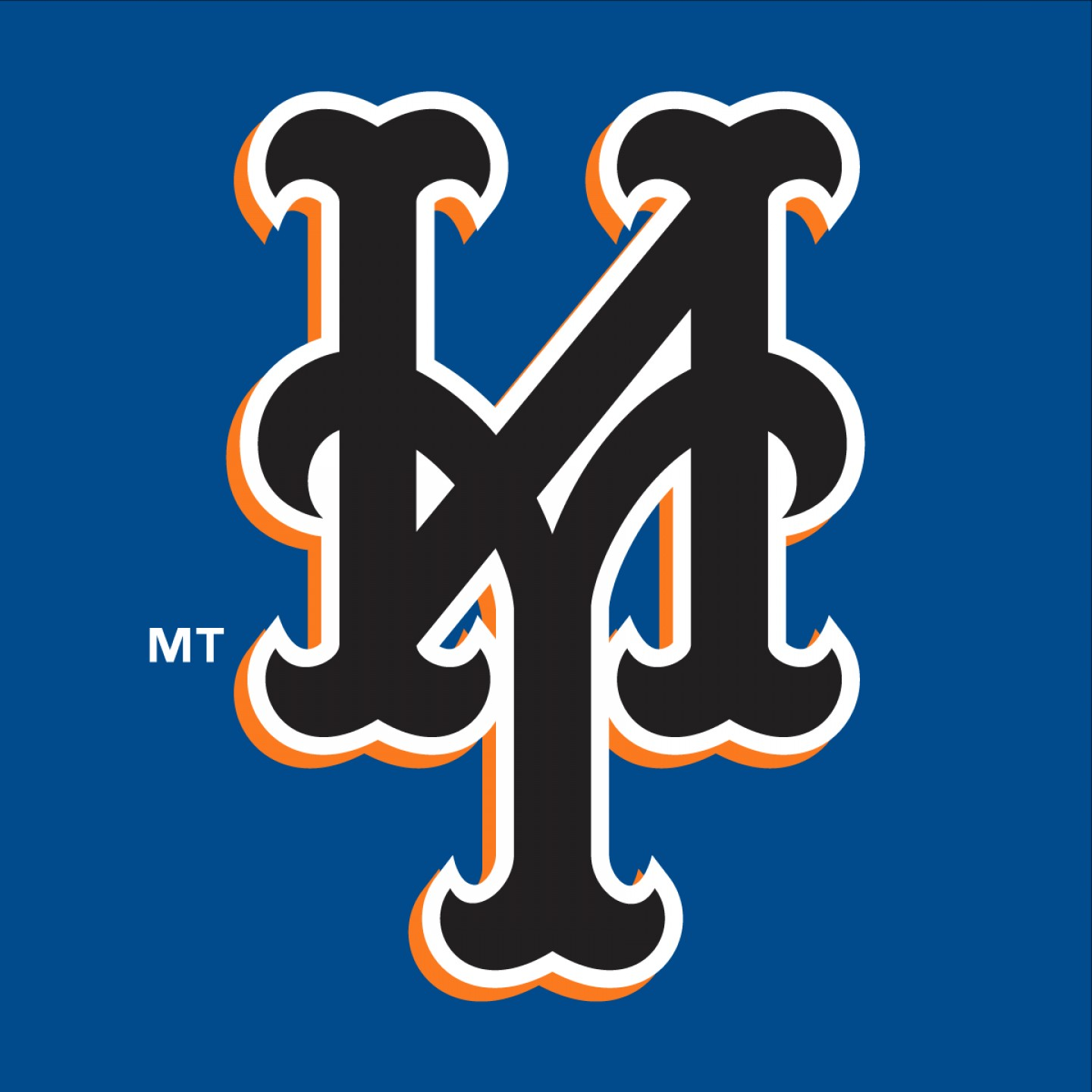 Mets Logo Vector: New York Mets Black Logo Vector