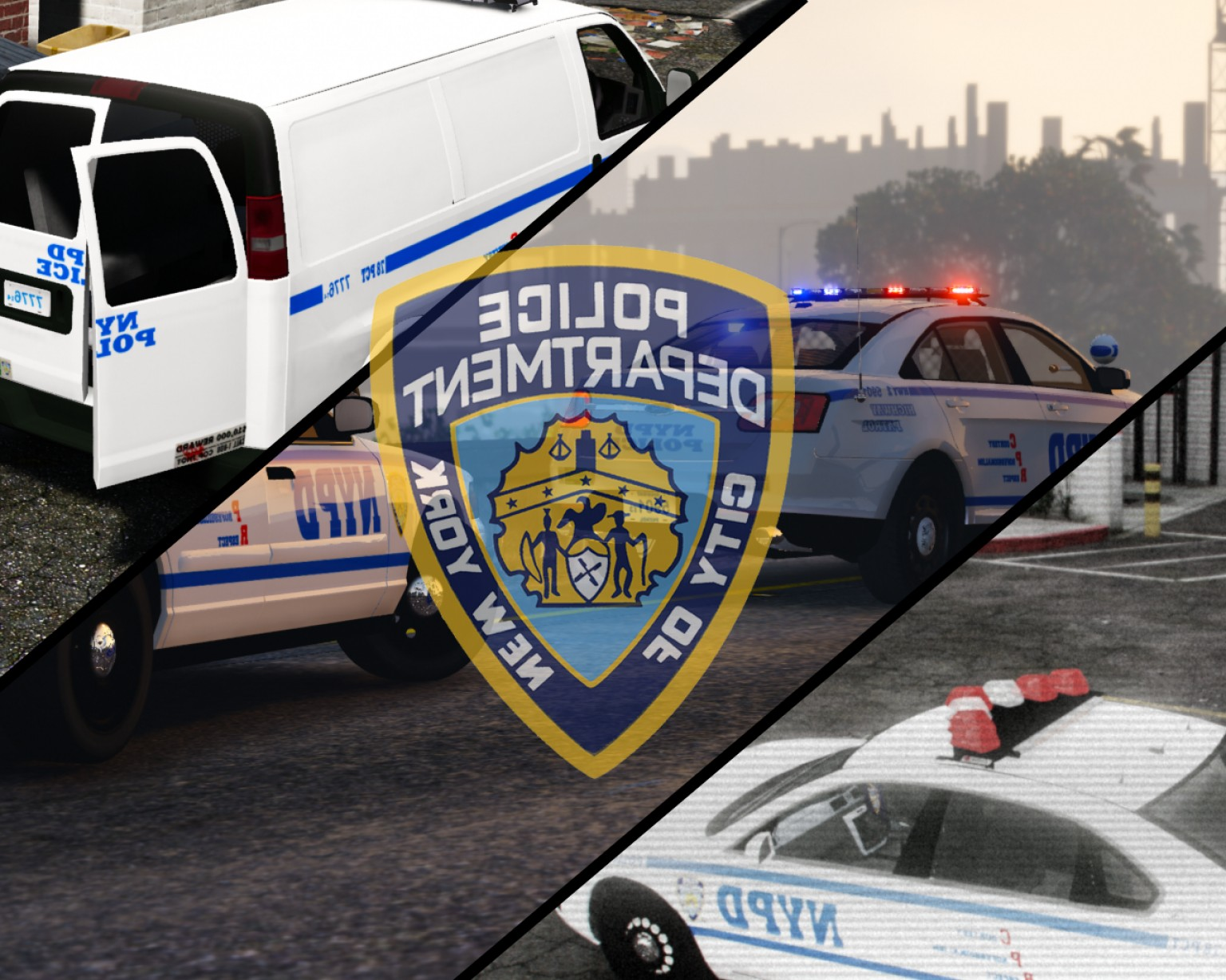 Custom Police Cars Vector: New York Police Department Skin Pack Fedsig Vector Light Fix Realistic Nyc Licence Plates Custom Made Bumperstickers K Resolution