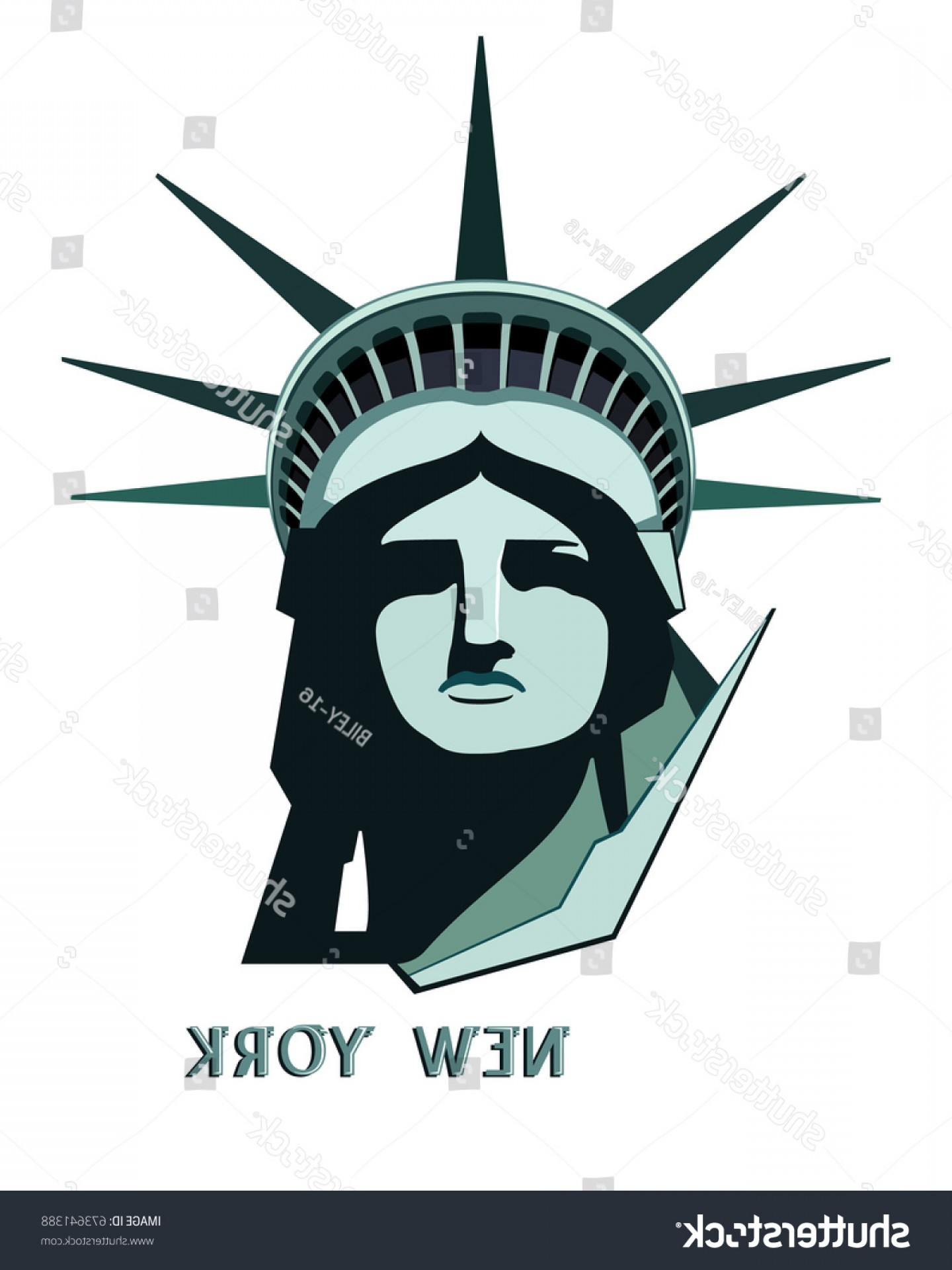 Statue Of Liberty Face Vector: New York Portrait Statue Liberty Independence