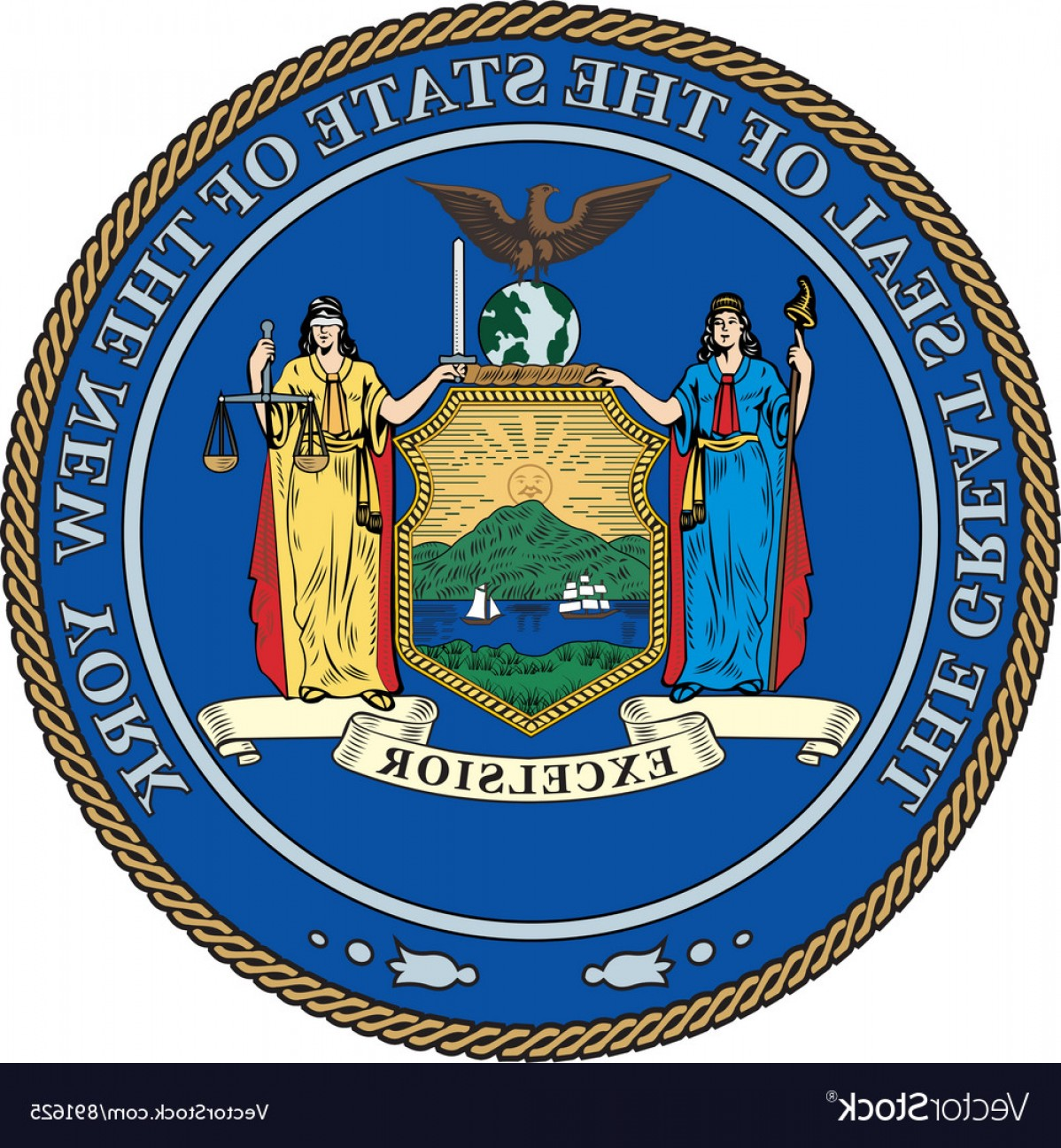 State Flag Images Vector: New York State Seal Vector