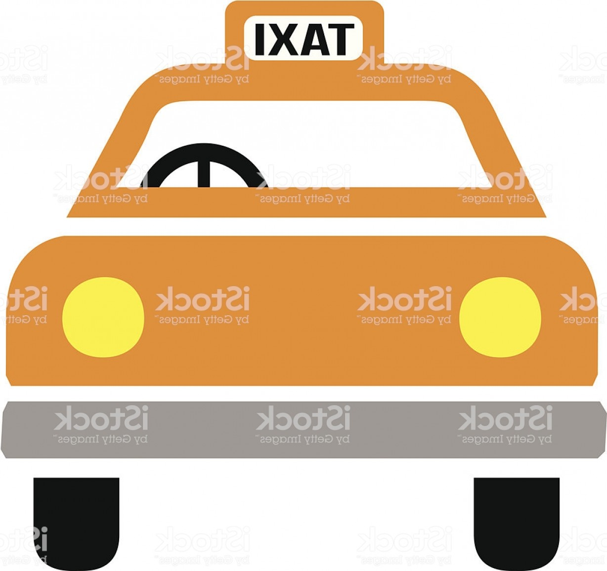 New York Taxi Cab Vector: New York Taxi Cab Icon Front View Gm