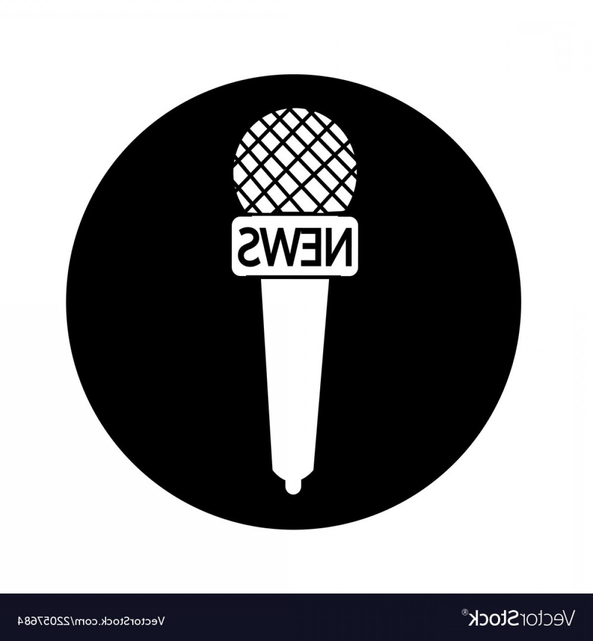News Microphone Icon Vector: News Microphone Icon Design Vector