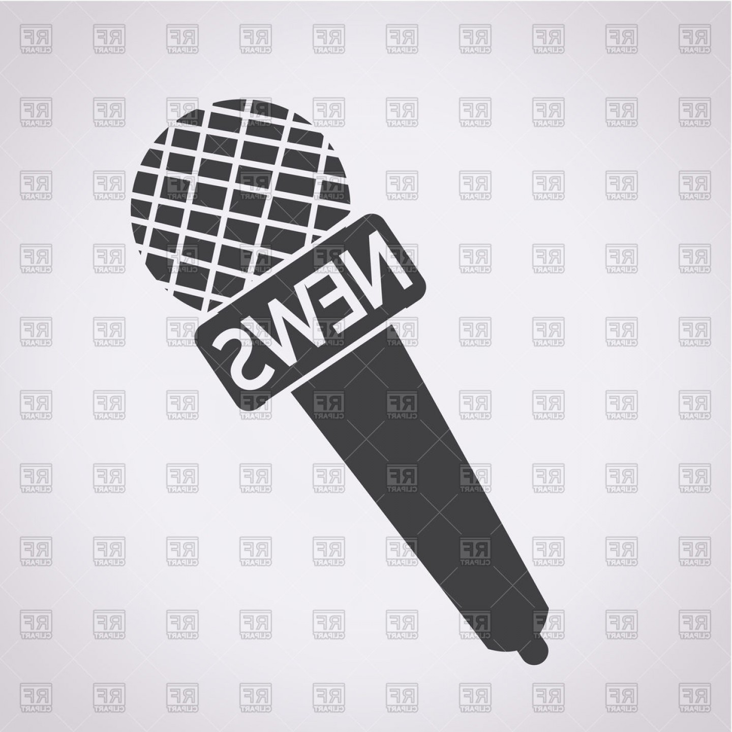 News Microphone Icon Vector: News Microphone Icon Vector Clipart
