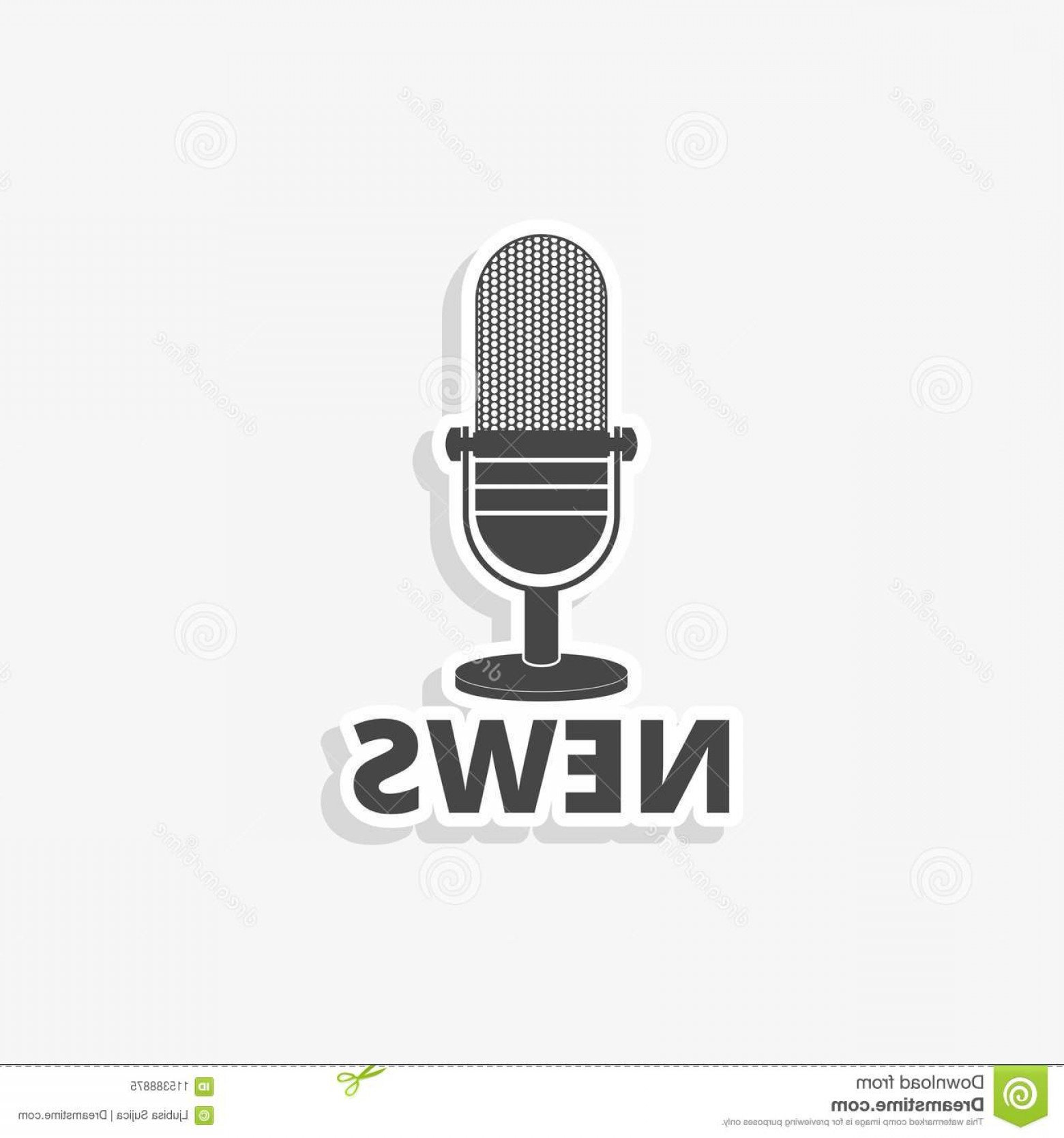 News Microphone Icon Vector: News Microphone Sticker News Microphone Icon Simple Vector Icon News Microphone Sticker News Microphone Icon Simple Vector Icon Image