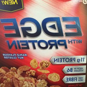 Nutrition Label Kellogg's Vector: New Product Review Edge Cereal With Protein