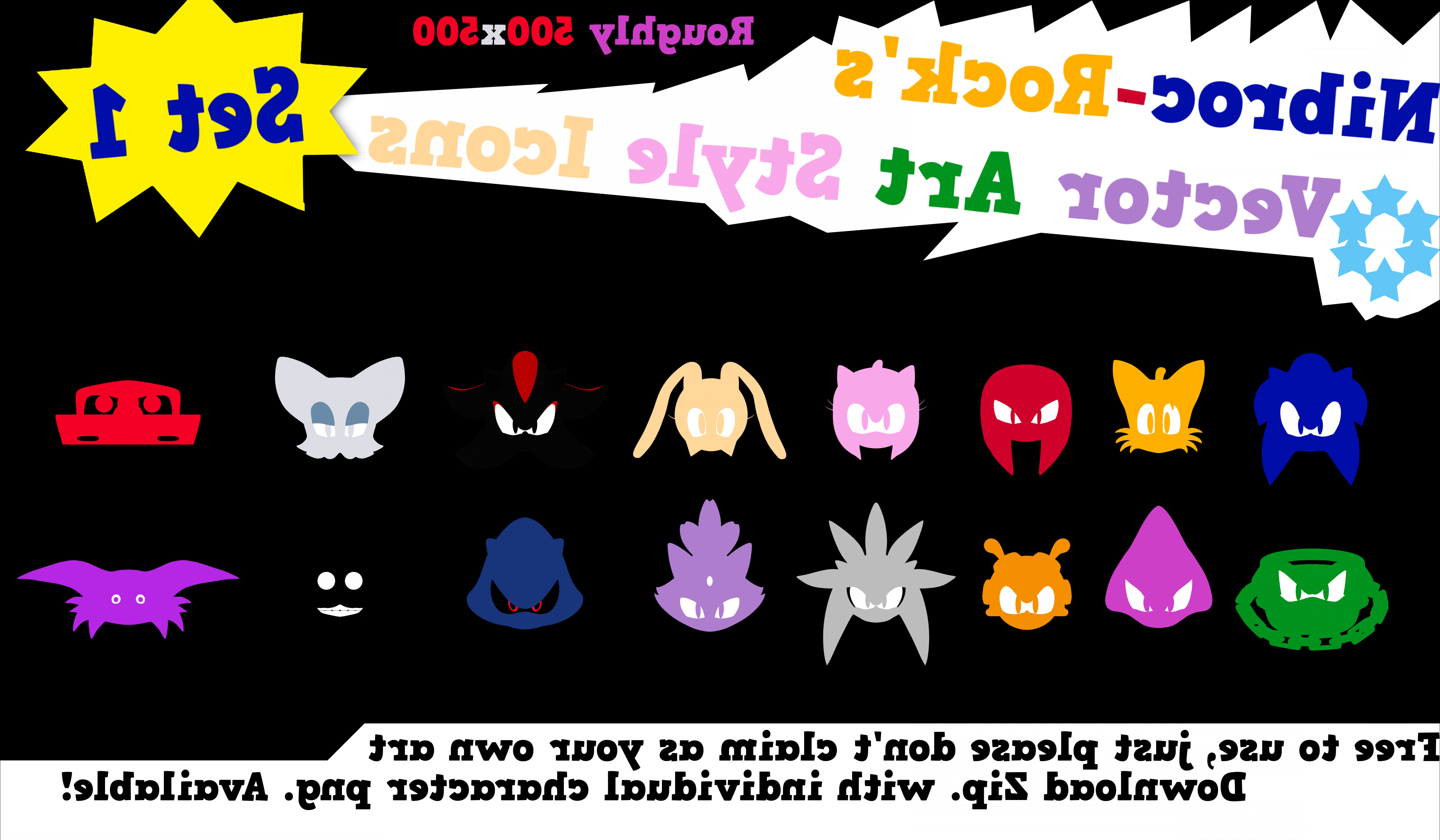 Vector From Sonic DeviantART: Nibroc S Sonic Vector Icons Set