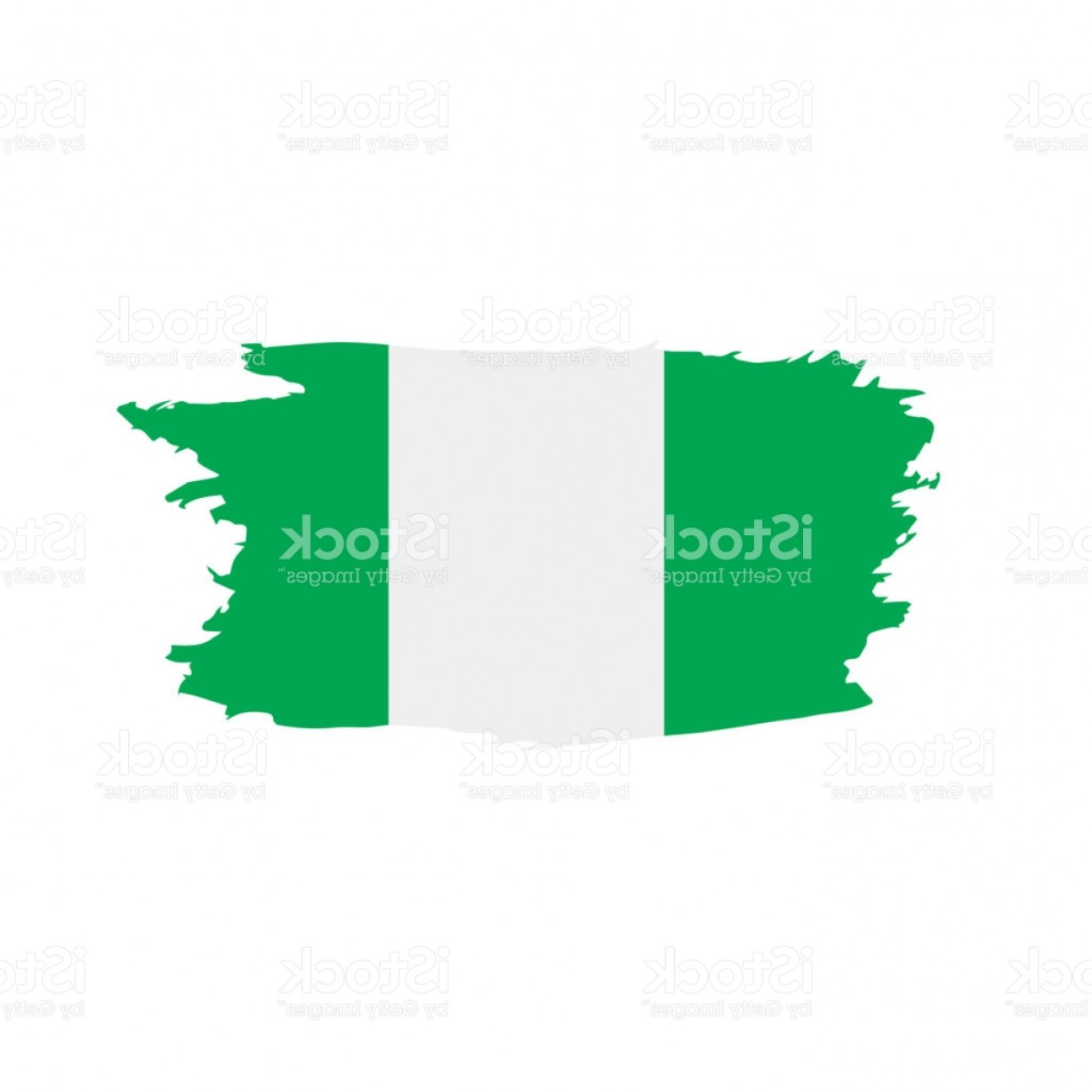 Geographic Leaf Vector: Nigeria Flag Vector Illustration Gm