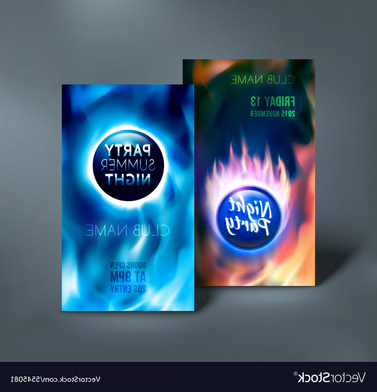 Club Flyer Vector: Night Club Flyer Templates Colorful Vector Template