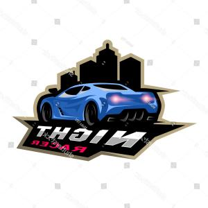 Corvette Stingray Logo Vector: Night Street Racer Emblem Logo