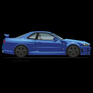 Cars Skyline Vector: Nissan Skyline Gt R