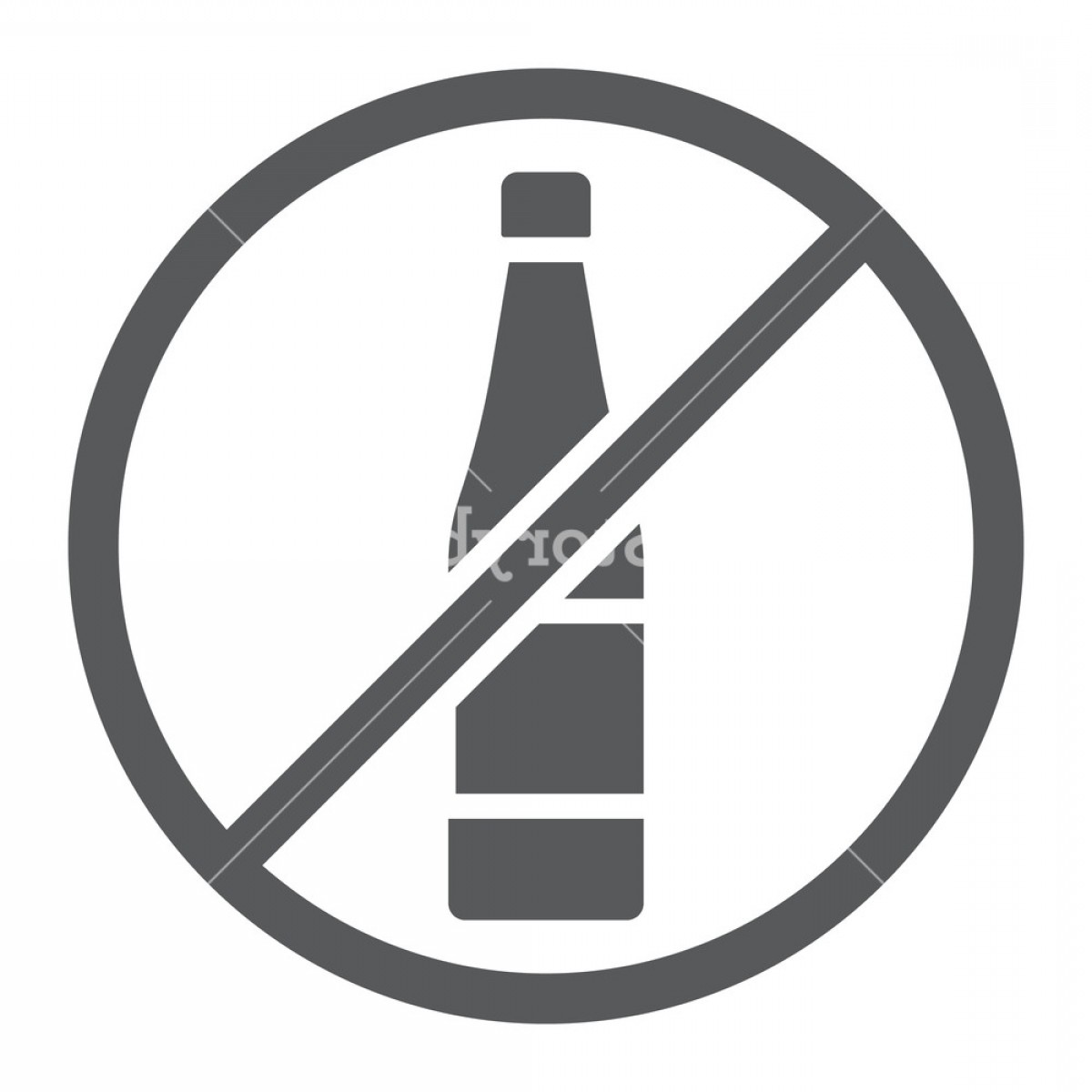 Vector No Alcohol: No Alcohol Glyph Icon Drink And Warning Alcohol Forbidden Sign Vector Graphics A Solid Pattern On A White Background Hsmqdjtjtyglo