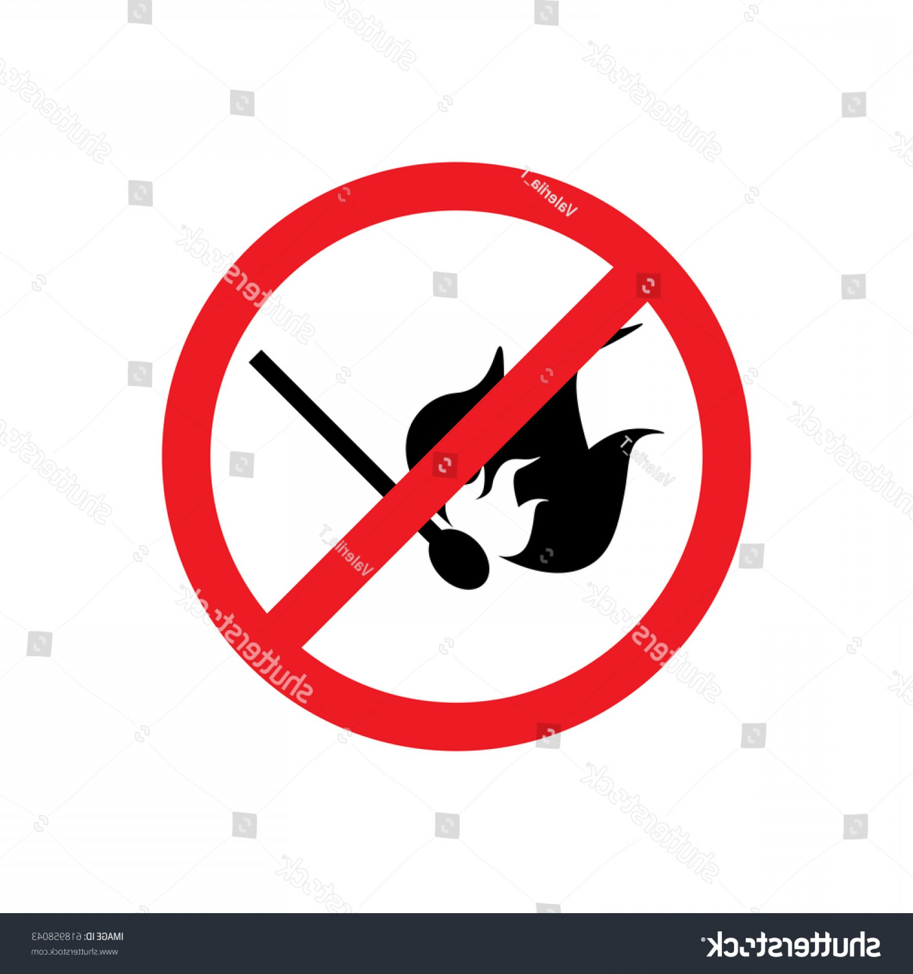 Vector Flame Stick Pattern: No Matches Fire Icon Sign Pattern