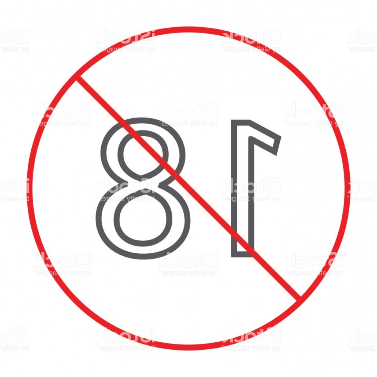 Vector Ban Plus: No Plus Thin Line Icon Prohibited And Ban Age Restriction Sign Vector Graphics A Gm