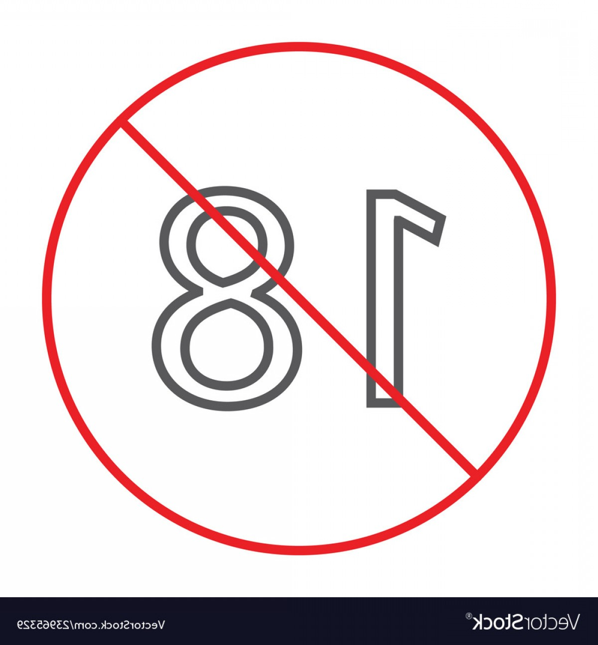 Vector Ban Plus: No Plus Thin Line Icon Prohibited And Ban Age Vector