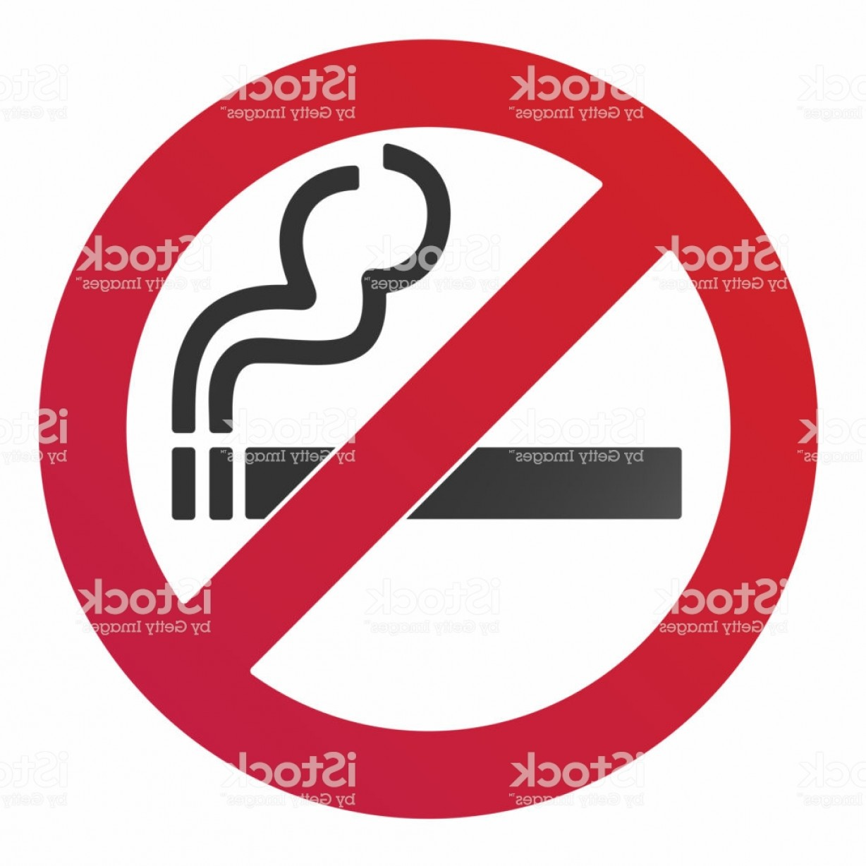 No Smoking Vector Art Black And White: No Smoking Sign Forbidden Sign Icon Isolated On White Background Vector Gm
