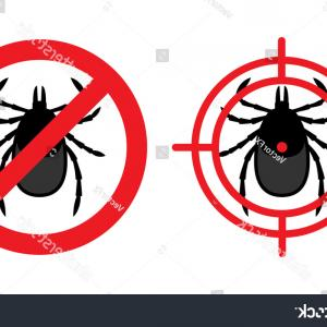 Vector Ban Plus Insecticide: No Mites Sign Crossed Tick Acarus
