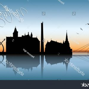 UK Skyline Vector: Ipswich Uk Skyline Vector Illustration