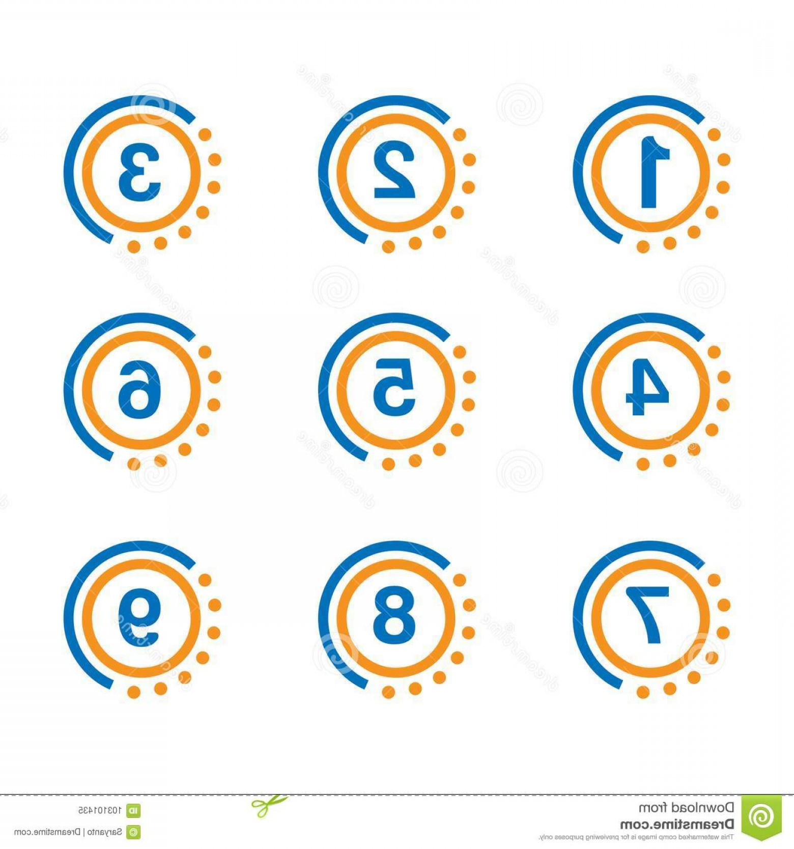 Blue And Orange Circle Vector: Number Set Button Blue Orange Circle Number Set Button Blue Orange Circle Eps File Available See More Images Image