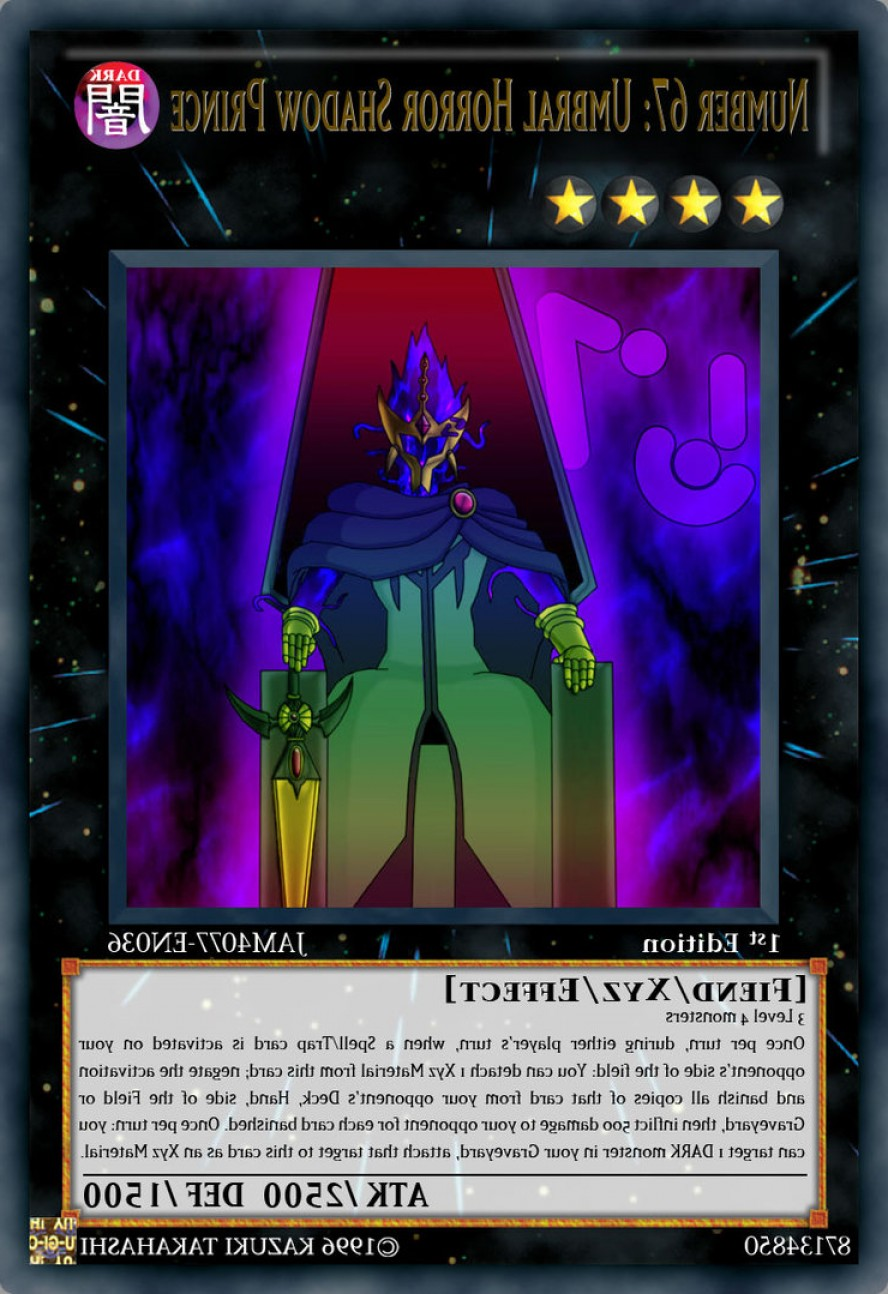 Yu-Gi-Oh! Vector Prince: Number Umbral Horror Shadow Prince
