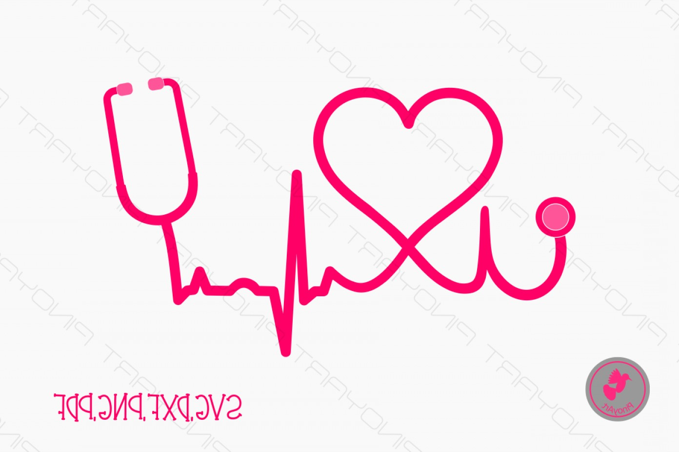 Nurse Vector Art SVG: Nurse Svg Nurse Dxf Nurse Svg File Stethoscope Svg File Doctor Svg Svg